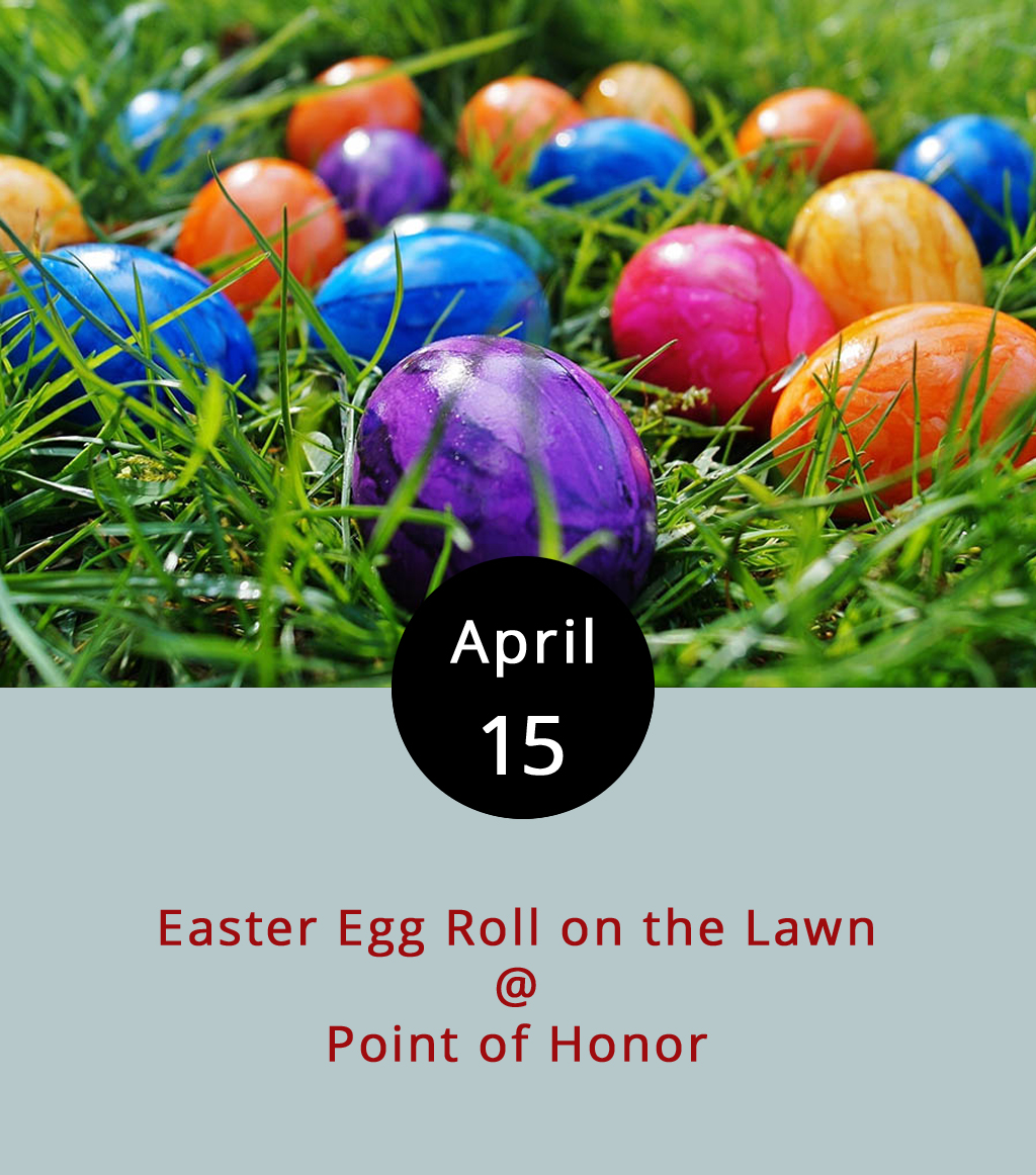 The Lynchburg Parks & Rec folks are gearing up for Easter by hiding more than 6,000 eggs at Point of Honor (112 Cabell St.), and they've got the Easter Bunny on board to help out. Crafts, face painting, bouncy housing, and food trucking will all be part of the fun, from 10 a.m.-2 p.m. There will even be photo ops with the Easter Bunny and a petting zoo. It's free; call (434) 455-5858, or click  here for more info.
