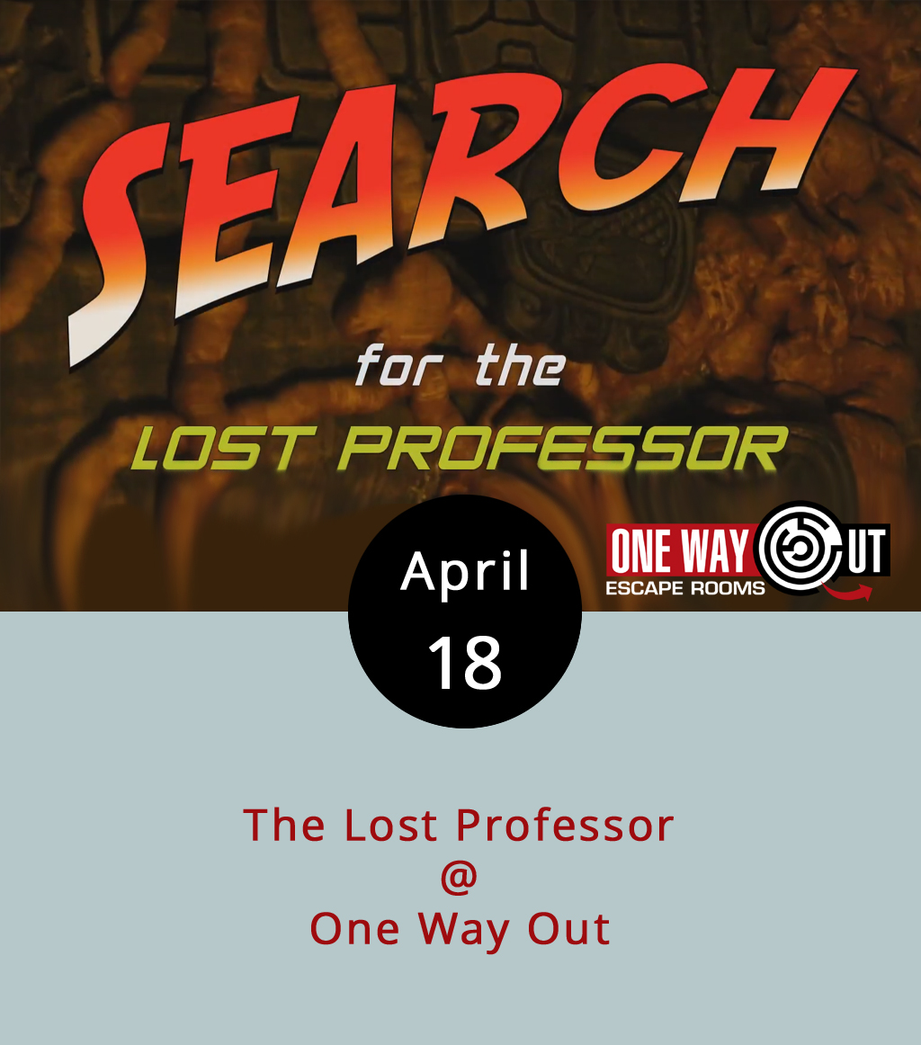 From a hidden compartment in an old desk, you pull a cache of secret research notes pointing to an ancient Incan temple deep in the rainforest. But whoever jotted down the directions went missing sixty years ago, presumably on his way to the site. That's the premise of One Way Out's The Lost Professor, their newest escape room. Here's how it works: you and your party are shut inside a room full of puzzles. Solve them in an hour, and you win. If not, well it's just like losing a video game, only more shameful. Basically, you get to spend an hour of quality time looking for keys, solving riddles, and deciphering codes. It's $18 per person and a fine thing to do on a Tuesday evening. Click  here for more info. Rent an entire room and it's 20% discount. One Way Out (2264 Lakeside Dr.) recommends having at least four people in your party for this particular room. Book a time slot right  here , or call (434) 602-2372.