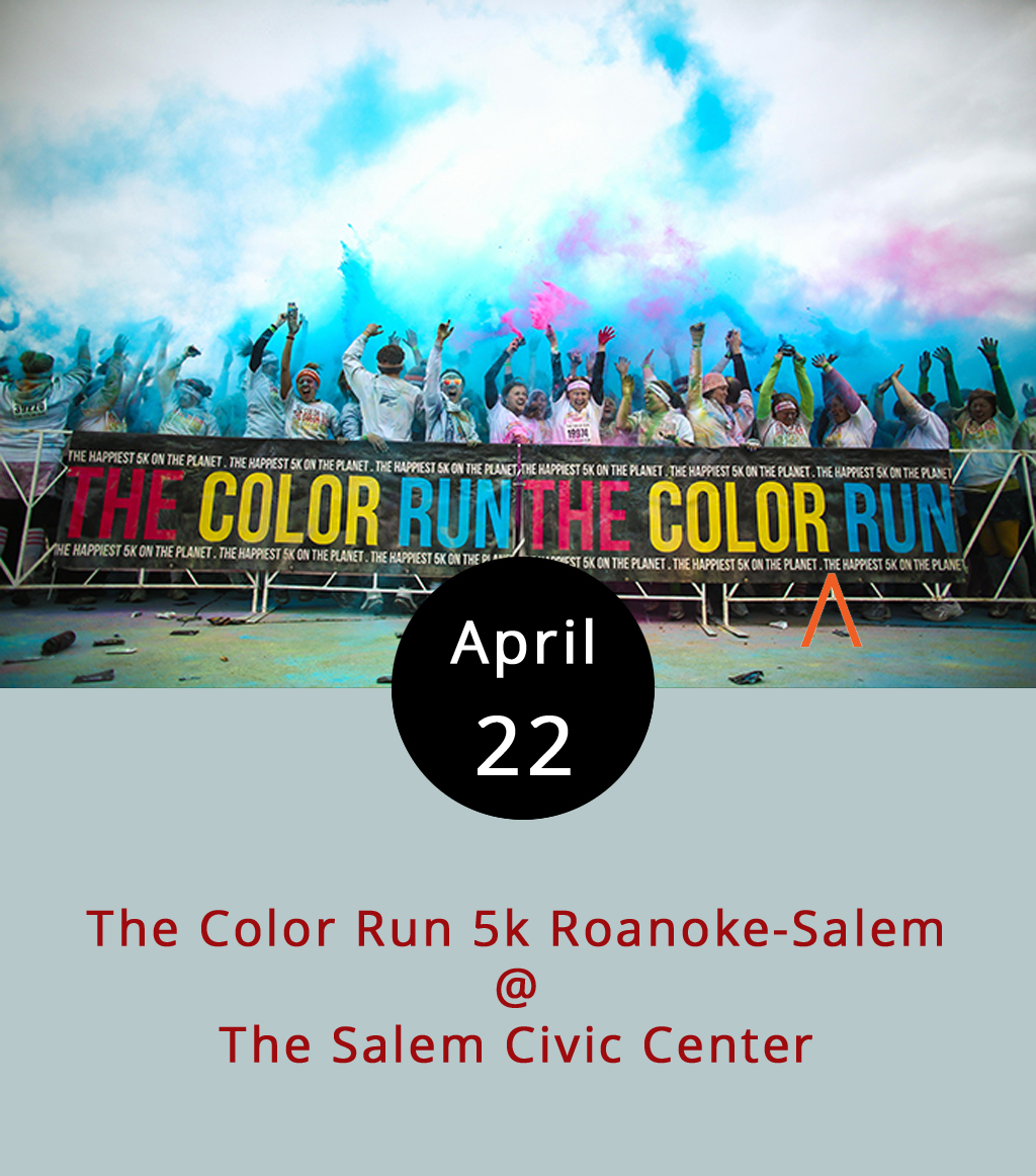 """If you've ever celebrated Holi, the Hindu festival of colors, then you know how awesome it is to run around lobbing brightly hued powders at your fellow humans. If you're not familiar with this colorful tradition, you may want to check in on the 5k event that begins at 9 a.m. today at the Salem Civic Center (1001 Roanoke Blvd.). It's a run – five kilometers to be exact – but it's not really a race. There will be giant inflatable unicorns, a """"dream wall,"""" and, yes, a """"foam zone."""" Tickets are $49.99 per person, but the price is reduced to $44.99 if you register as part of a team of four or more. Click  here for tickets and more info."""