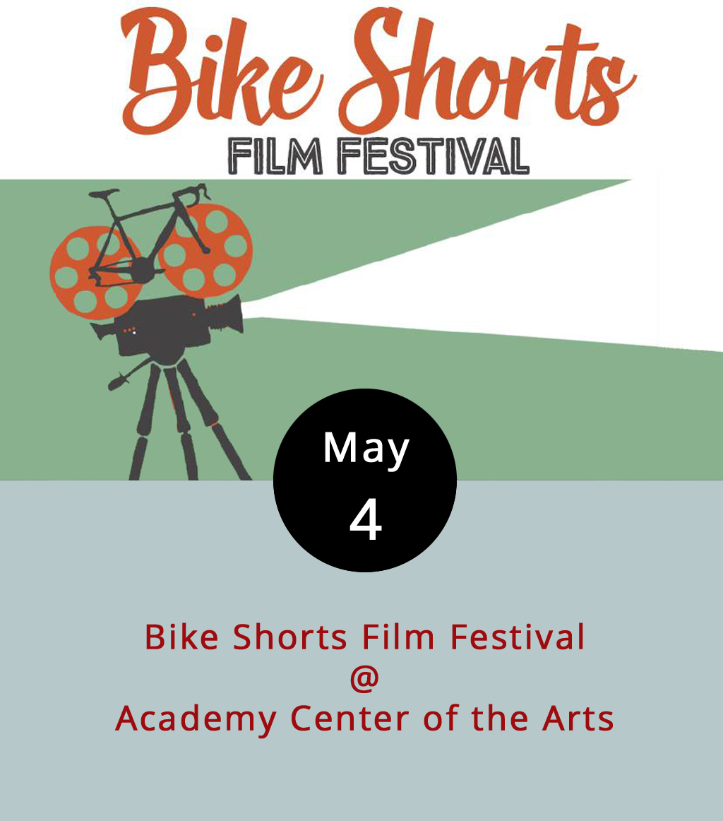 There are basically two kinds of films about bikes. There's your  Easy Rider  (1969) variety, which spotlights a certain type of bike, a certain type of biker, and a certain Dennis (Hopper). And, there are films like the 1979 classic  Breaking Away , which is devoted to the sort of bike that requires pedaling and features another famous Dennis (Quaid). Neither of those films in on the docket this evening at the Academy Center of the Arts (519 Commerce St.), but a bunch of other shorts about biking and even some (animated) bike shorts will be screened. Tickets are $5, which includes two tacos from the Taco Shark food truck. Apocalypse Ale Works will provide libations, and Greater Lynchburg Off-Road Cycling will be offering bike valet services. The evcnt begins at 5:30 p.m., and the films start rolling at 6:30 p.m. Click  here for more info, or call the Academy at (434) 846-8499.