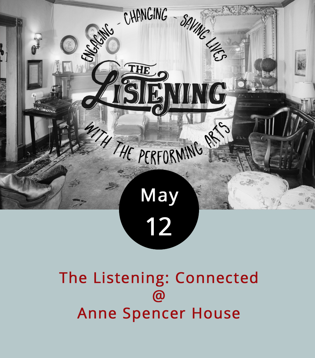 The Anne Spencer House & Garden Museum (1313 Pierce St.) is an historical landmark and the former home of poet and civil rights activist Anne Spencer (1882-1975). The Listening is a little harder to explain. It's a group started in 2012 around the idea that spontaneous performance, spoken word, and the art of, well, listening were all worth promoting and cultivating. They put on events that bring to mind  The Moth Radio Hour , but you can read more about their mission  here . Better yet, you could join the Listening this evening from 7-9 p.m. at the Anne Spencer House for a fundraising open mic centered around connectivity and connectedness. The Cheesy Rider food truck will be on site. Admission is $5; call (434) 845-1313 for more info, or click  here .
