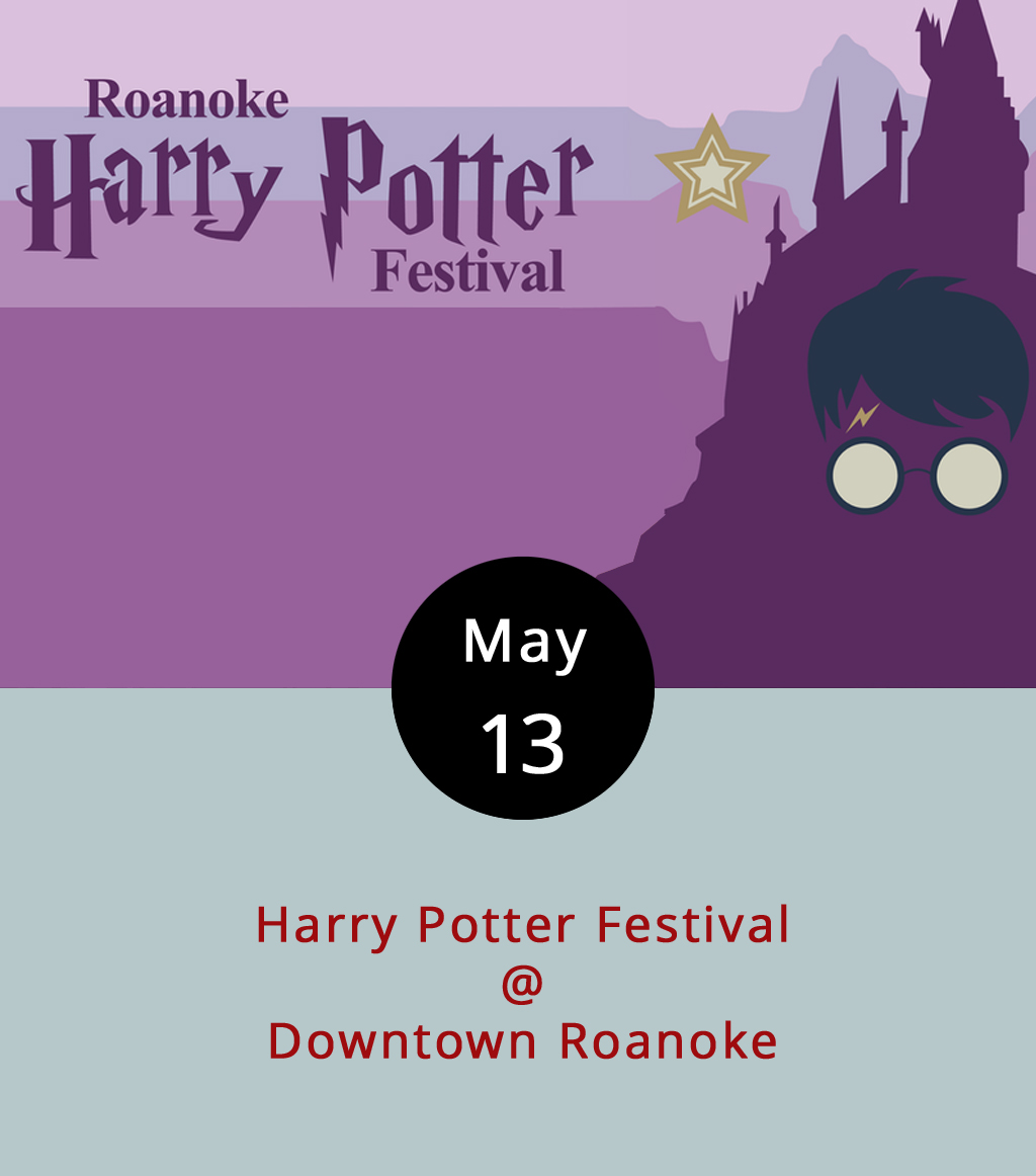 Okay, so we're going to dispense with the Hogwarts references, the Muggle asides, and any mention of a certain Lord Voldemort because the day has finally arrived. Downtown Roanoke will be transformed today from 11 a.m.-5 p.m. into something just a little bit magical and mysterious as the Harry Potter Festival takes over large portions of the city. There are too many events to include here, so we recommend visiting the Potter Fest  website for a complete list of events, places to park, and other useful info. What we can tell you is that there will be films, music, performances, classes, demonstrations, and maybe even a little sorcery. There's also an after-hours Quidditch Party scheduled for 7-11 p.m. at Center in the Square (1 Market Square SE), so you may want to bring a broom. For tickets to the ticketed events, click  here . For more info, call (540) 597-9382.