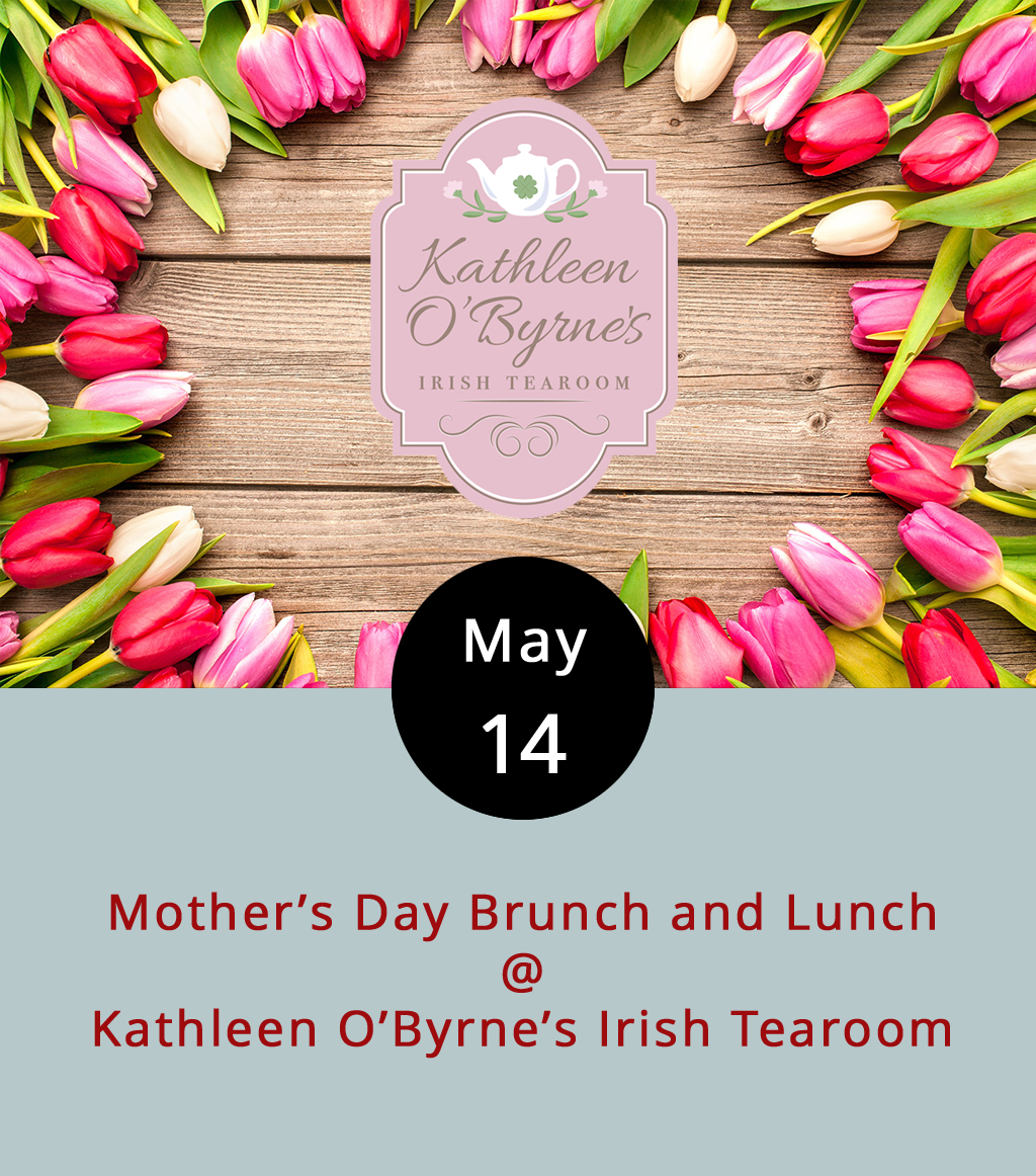 We have to hand it to the folks at Kathleen O'Byrne's Irish Tearoom (4925 Boonsboro Rd.). Seems like they've got a special event of some kind happening at their location in the Boonsboro Shopping Center just about every other weekend. Today, of course, is Mother's Day. We've got a few events listed on our  LynchburgDoes More page. And we've got this: a three-course tea service and lunch replete with Celtic music, scones with jam and cream, a spinach salad with champagne dressing, pesto chicken tartlets, and lemon cupcakes with strawberry icing. It's all on the menu from 11 a.m.-4 p.m. at Kathleen O'Byrne's, as is the Tearoom's violet lemonade. Reservations are recommended. It's $19.95 per person; call (434) 473-5983 or click  here for more info.
