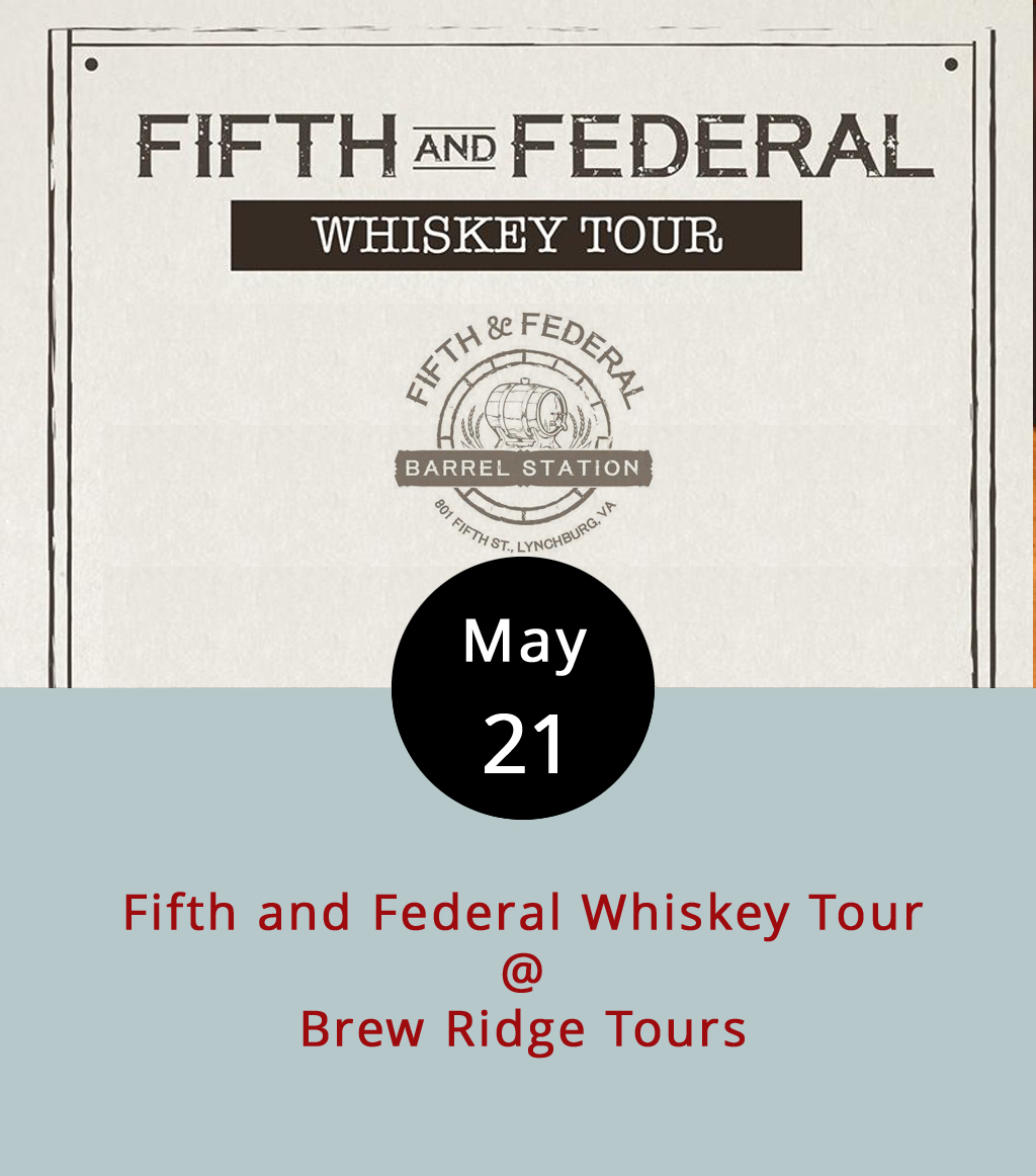 Virginia already has a solid reputation as a winemaking region. And it's developed a pretty respectable craft-brewing sector as well. Now, it's time to celebrate the up-and-coming whiskey distilleries of Central Virginia. Brew Ridge Tours has organized a tour that begins at 11:30 a.m. at Fifth and Federal. From there, the tour moves on to the Virginia Distillery Company, Silverback Distillery, Woods Mill Distillery, and Blue Mountain Barrel House. The tour is scheduled to wind up back at the Fifth and Federal around 7:30 p.m., where you can eat a nice dinner if you're so inclined. Tickets are $169, and reservations are required. Click  here or call (855) 446-7868.