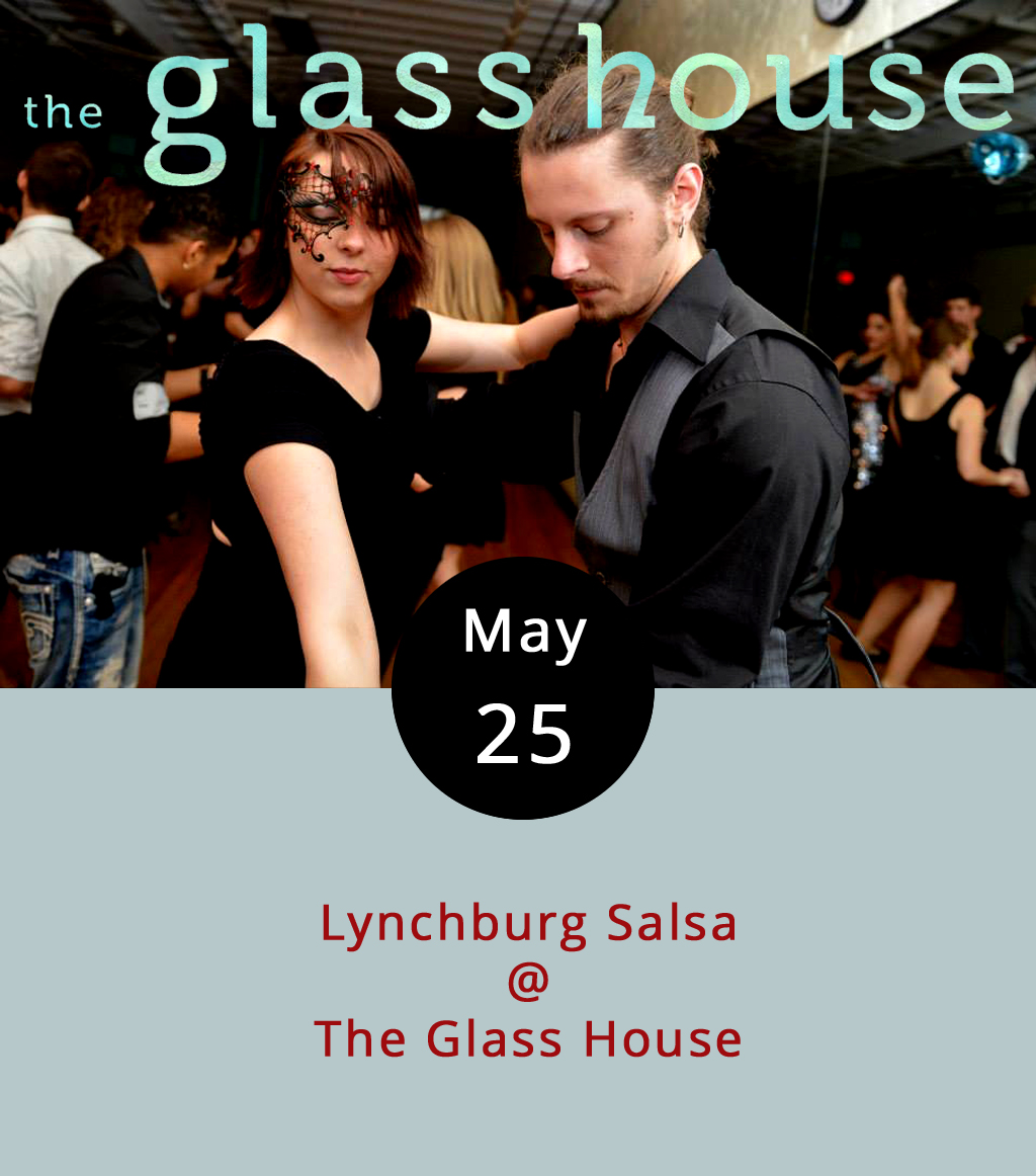 We've used this joke before, and we liked it so much we thought we'd try it again: There's the salsa you get with your chips at the local Mexican restaurant. And then there's the salsa you can dance to, which may help burn off some of the calories from those chips. The folks at  Lynchburg Salsa are regulars at the Glass House (1019 Jefferson St.), where they host a Thursday night event that begins with salsa lessons from 8 p.m. and continues with salsa dancing and socializing from 9-11 p.m. Cover is $5, and you don't have to bring a partner. Call (434) 544-1176 for more info.