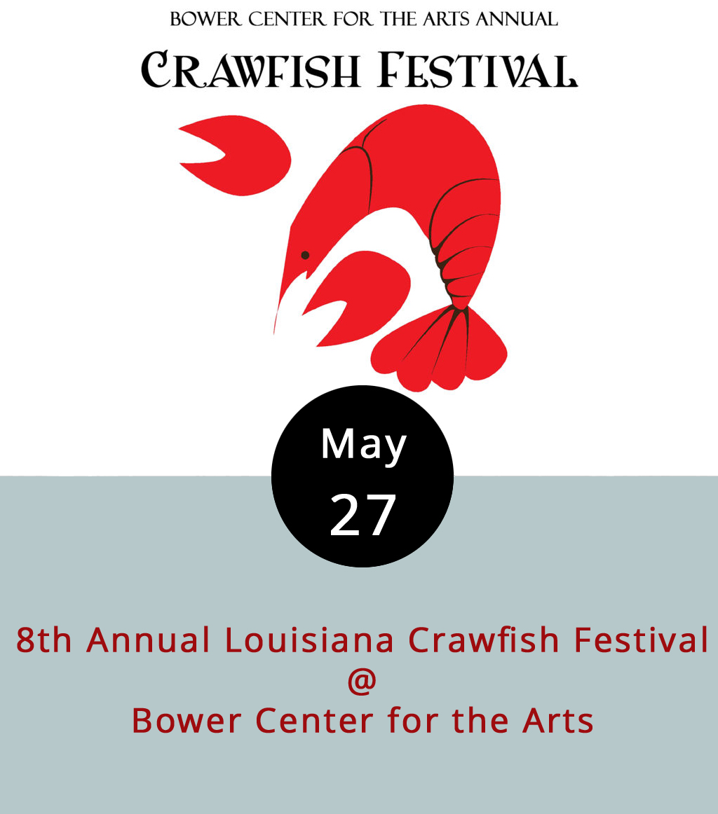 """The further north and west you go, the more likely you are to hear the species known as  procambarus clarkia referred to as """"crayfish."""" But as you get closer to Louisiana, geographically or spiritually, the """"y"""" turns into a """"w"""" and those tasty little mudbugs become crawfish, or even crawdaddies. Whatever you call them, eating them is the cool part: you suck the head, pinch the tail, and then pull out a tasty morsel of sweet, lobstery meat. There should be plenty of experts on the process in the house at the 8th Annual Louisiana Crawfish Festival at Bedford's Bower Center for the Arts (305 N. Bridge St.). In addition to hundreds of pounds of live-boiled crawfish, there will be trad fixings like red beans and rice, corn on the cob, etouffée, and chicken gumbo, as well as music by Zydeco Crayz. The feast runs from 5-9 p.m. Tickets are $30 in advance, and $35 at the door. It's $10 for kids 12 and under, and free for those under five. Click  here for more info, or call (540) 586-4235."""