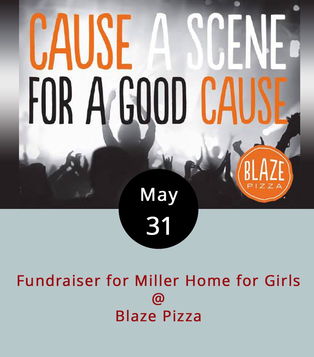 The Miller Home for Girls has been serving Lynchburg's children since 1875 by giving them care and shelter, and now they're asking for your help in a pretty delicious way. Blaze Pizza (4026 Wards Rd.), a new addition to the Lynchburg restaurant scene, is helping them to raise money tonight. From 5:15-8:15 p.m., if you show  this flyer to the folks at Blaze, 20% of your purchase goes to Miller Home. The money helps Miller Home purchase necessities and amenities as well as services and activities for the girls in their care. To read Miller Home's mission statement and take a look at some of the work they do and the people they help, click  here . For a peek at the Blaze menu, click  here .