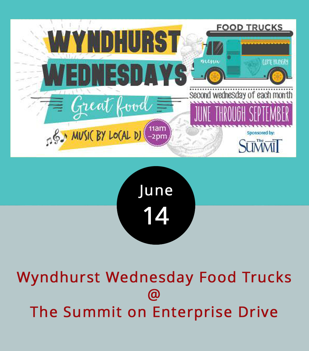 Instead of negotiating with your coworkers over a Wednesday lunch spot, head to Wyndhurst on Enterprise Drive for a food truck rodeo today from 11 a.m.-2 p.m. The event will showcase Taco Shark, Uprooted, Action Gyro and Mama Crockett's Cider Donuts. They'll all be lined up at the Summit (1400 Enterprise Dr.), and there will be outdoor seating available on the Summit North Lawn. Lunchers and munchers are also invited to bring picnic blankets. The Summit is a senior living community in the Wyndhurst area located near a stretch of coffee shops, bakeries, and restaurants. Wyndhurst Wednesday Food Trucks will be held the second Wednesday of July, August, and September. For more information click  here or call the Summit at (434) 582-1500.