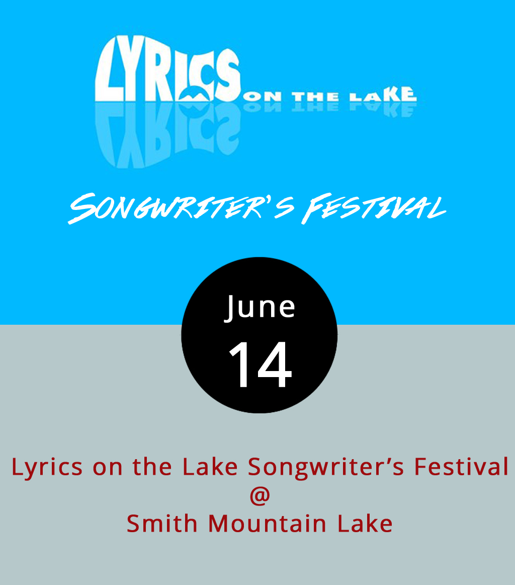 Along with respite from the warming sun, the sweet lake breezes will carry Nashville tunes starting today and through the weekend for the annual Lyrics On The Lake Songwriter's Festival. What started with only two singer-songwriters at a pool party in 2012 has grown to include more than 30 artists playing at least seven venues around the lake, including Sunken City Brewery. While the artists playing the festival aren't all household names, several of them have written songs for more familiar country acts like Florida Georgia Line, the Eli Young Band, Rascal Flatts, Hank Williams Jr., and Alan Jackson. For a complete list of performers and their bios, click  here . The festival is free to attend, and any money raised will be donated to the Musicpreneur Storehouse (a Nashville nonprofit offering financial assistance to struggling artists) and the Central and Southwest Virginia Children's Miracle Network (a nonprofit dedicated to children's health services). For more information on venues and performance times, click  here .