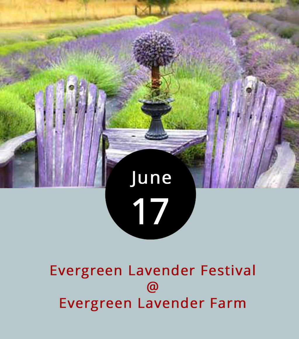 Stroll through purple waves of lavender while drinking lavender lemonade and eating lavender potato salad as the Evergreen Lavender Farm in Appomattox (7169 Old Evergreen Road) celebrates its signature crop. There will be live music, food, and artisan crafts from 11 a.m.-5 p.m. Along with picking your own lavender for $8 a bunch, attendees can make lavender crafts, eat and drink lavender-infused goodies, and even learn how to make a lavender wand. The entry fee is $5 per person. The hosts recommend bringing your own lawn chair for the event that includes at least two bands, Dixie Road Bluegrass and Good Buddy, as well as food and drink from the Drug Store Grill, Sourdough Pizza Company, Baine's Books and Coffee, Uprooted, and Sans Soucy Vineyards. For more information and detailed directions click  here  or call (434) 664-9561.