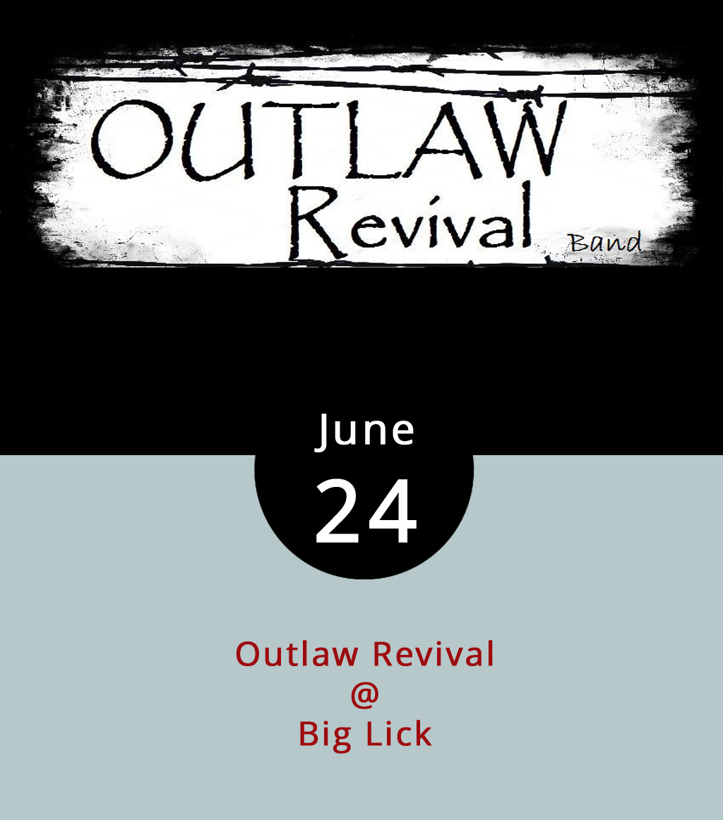 The spirit of Hank, Merle, and Waylon descends upon Big Lick Tropical Grill (4001 Murray Pl.) this evening in the form of the Bedford and Campbell country foursome Outlaw Revival. If you know the surnames that go with those first names, then you'll probably enjoy what Outlaw Revival have to offer. The band says there's no cover for tonight's show, which runs from 8-11 p.m. You can call Big Lick at (434) 528-3604 to confirm that, and check out more about the band on their Facebook  page .