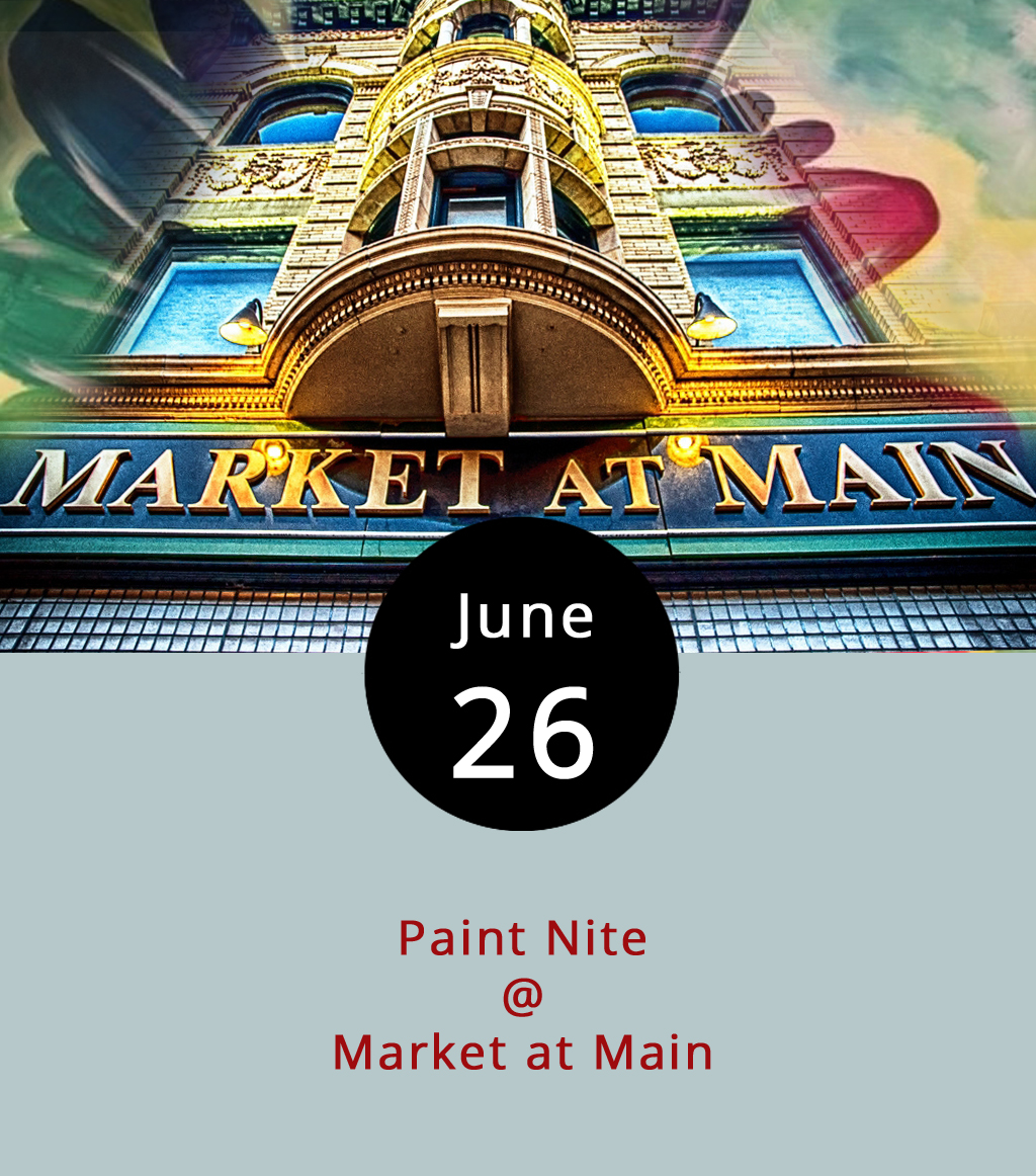 Market at Main (904 Main St.) have our full support in the efforts to spice up Monday nights downtown, and we're sincerely hoping other establishments will follow their lead. Tonight at 7 p.m., artist/party host Heather Gillikin will teach a painting class to those assembled for dinner and drinks. Guests are invited to dine beforehand or grab a little something to eat as the painting progresses. A ticket to paint is $45 and includes a canvass and all the other materials you'll need. For more info and to reserve a seat, click  here , and you can call Market at Main by dialing (434) 847-9040 or view their menu  here .