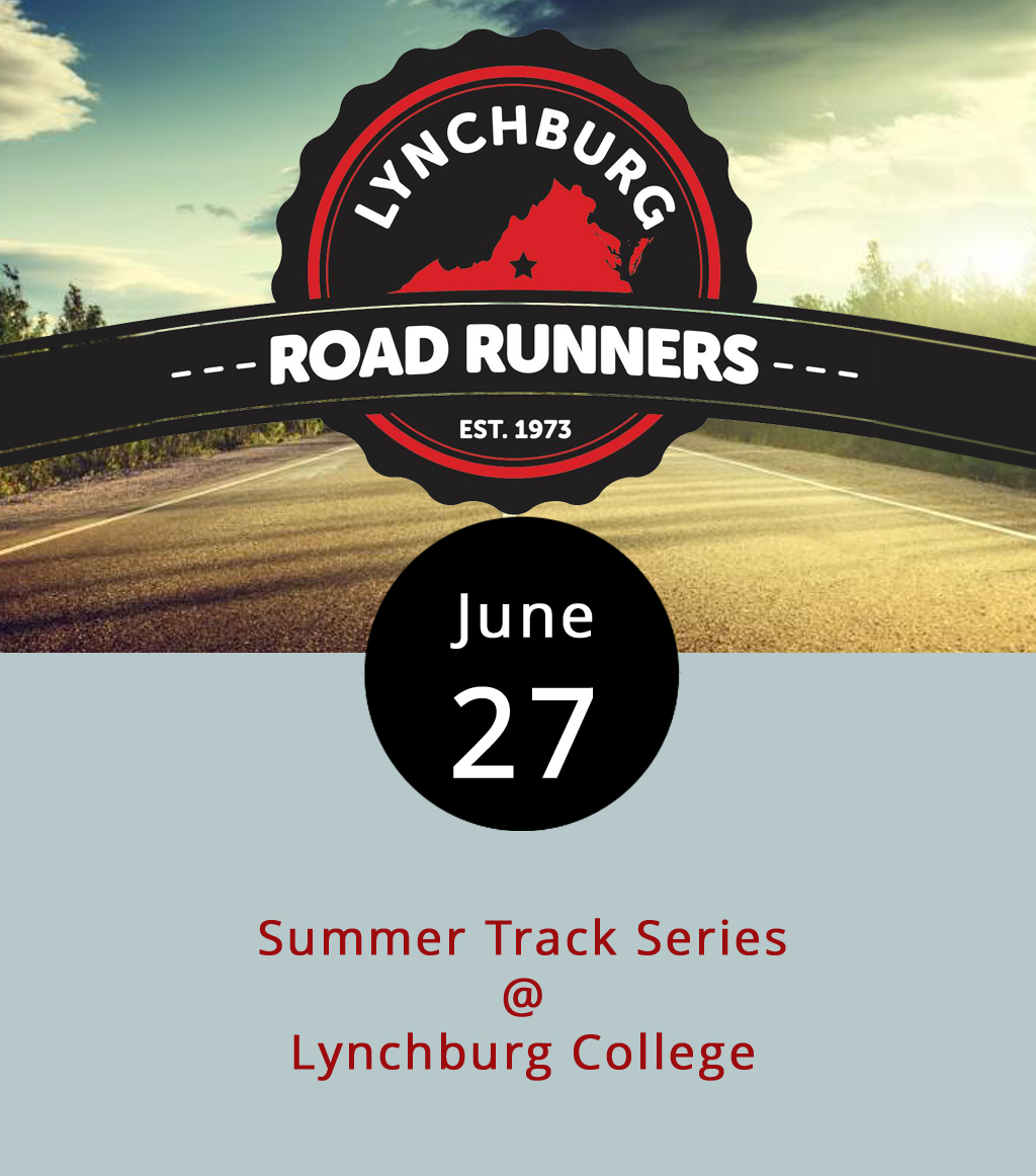 So, maybe you're thinking about running the ten-miler next year. Maybe you're not. Maybe you think ten miles is no big deal. Regardless, the  Lynchburg Road Runners Club would like to see you out and running this evening from 6:30- 9 p.m. at Lynchburg College's track (1501 Lakeside Dr.). It's the fourth and final installment of the organization's Summer Track Series, and it will feature a one-mile race, as well as shorter sprints of 200 and 800 meters. It's open to runners of all ages and abilities for the reasonable price of just one dollar. Click  here  or call (434) 846-7449 for more info.