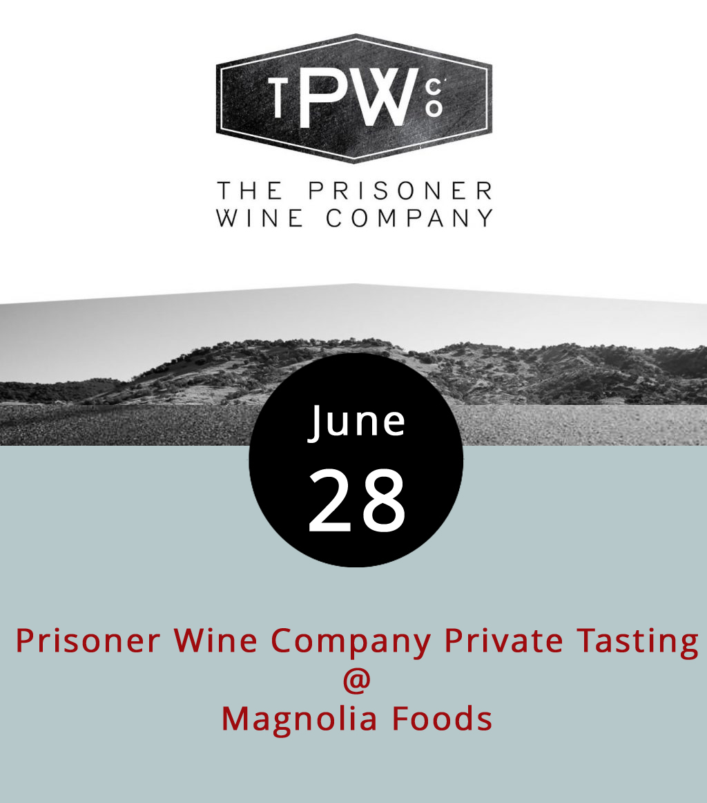 You may know Prisoner Wine Company from their distinctively drawn labels or from their creatively named wines. There's the Prisoner (a red blend featuring a shackled bearded guy on it); Blindfold (a white blend with a guy tied to a pole on the label); and Cuttings (a bold Cabernet that has a pile of sticks on the label). The California vintner specializes in sourcing, blending, and bottling rather than growing the grapes. And their wines will be featured at a special tasting session from 7:30-9 p.m. at Magnolia Foods (2476 Rivermont Ave.). The $15 ticket includes light Hors d'Oeuvres and cheese, but the admission price will be waived for those who instead order six bottles of Prisoner's best. Call (434) 528-5442 to make a reservation, and click  here for more info.
