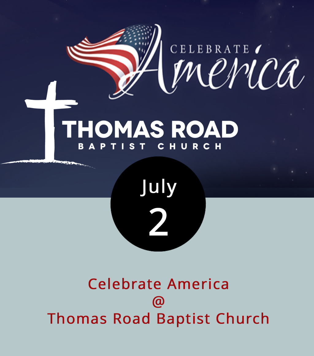 "Some of the better Lynchburg-area Fourth of July fireworks are scheduled to go off about two days early this year. The annual ""Celebrate America"" festival on the grounds of Thomas Road Baptist Church (1 Mountain View Rd.) begins at 5 p.m. and includes live music, a four-story water slide, a rock-climbing wall, and lots of other attractions. Guests are invited to bring blankets and chairs for the fireworks show, which will light up Candlers Mountain around 9 p.m. The Christian music station 88.3 FM-The Journey plans to sync music to the colorful blasts. The event is free. Click  here  for a map of the grounds, and call (434) 239-9281 for more info."
