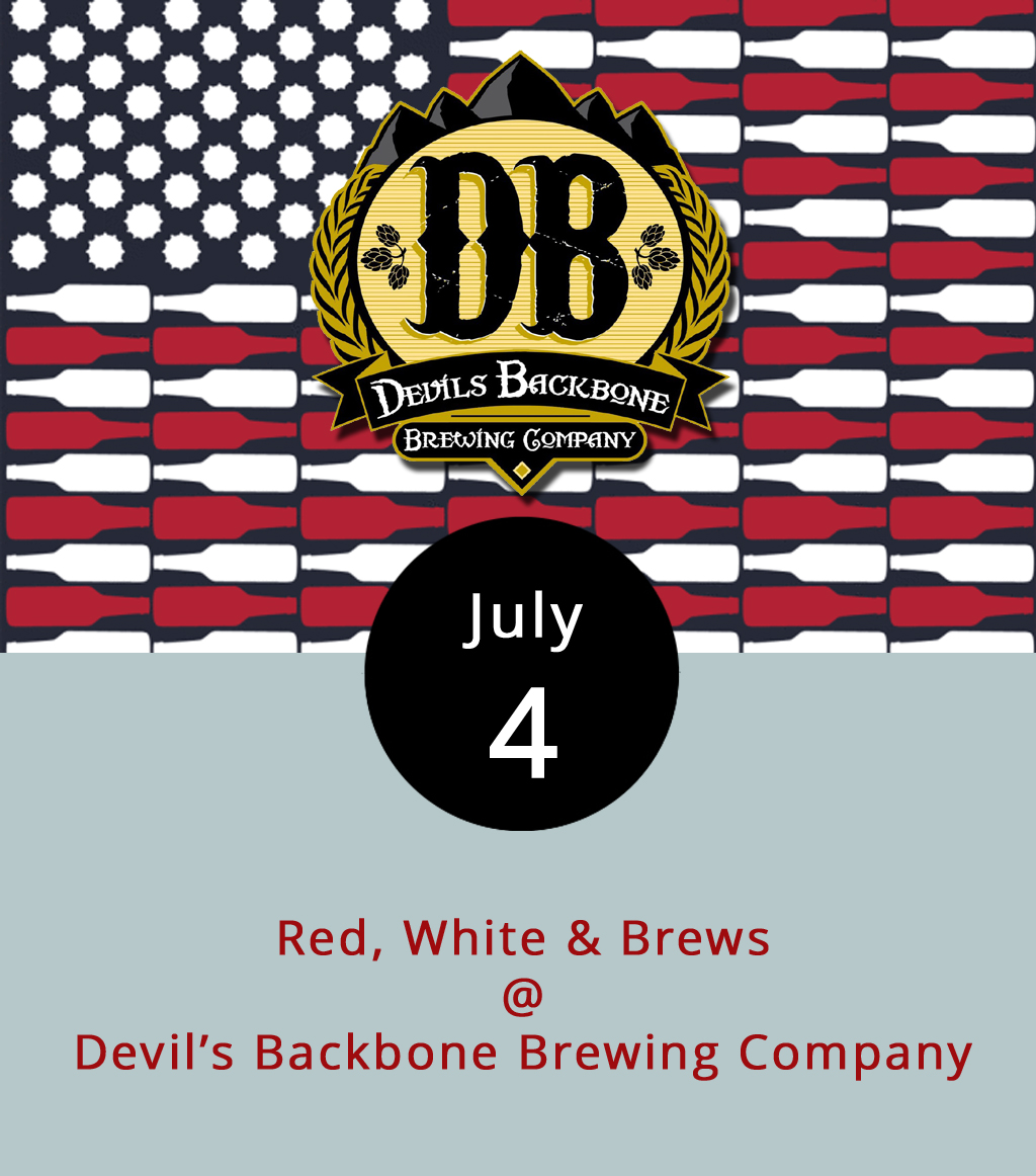 Complete with a stage, outdoor bar, lawn games, and a 360-degree Blue Ridge Mountain view, Devil's Backbone Brewing Company Basecamp Brewpub and Meadows (200 Mosbys Run) offers a pretty cool Independence Day cookout set up. They're planning a Bear Pong tournament(it's like beer pong, only bearier), and will have other lawn games available. The band  Shoot Toby Twice  performs from 3-7 p.m. The general  menu  and the outdoor Oak Grill  menu  will be available. Click  here for more info, or call (434) 361-1001.
