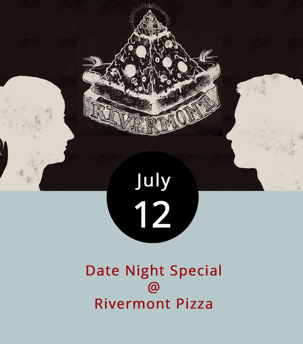 Lynchburg may not always offer unique events every night of the week, but we're looking out for the Hill City's best specials, such as  Rivermont Pizza's  (2496 Rivermont Ave.) weekly Wednesday Date Night. For $30, RP supplies one appetizer, one pizza, one dessert and one bottle of wine. Don't worry, they won't check your Facebook status to determine you're in a relationship, so you're welcome to go with a friend. Lynchburg's staple pizza shop offers a wide variety of craft pizzas, listed on the  menu  along with the appetizers. For anyone who wants to take date night into overtime,  Ned's Beer Shop , where you can purchase by the beverage and mix your six pack, will be open until midnight. For more information call (434) 846-2877. We want to help our readers spend their going out money wisely, so please let us know about regular specials worth highlighting. Reach out to Managing Editor Alex Rohr at alexnathanielrohr@gmail.com.