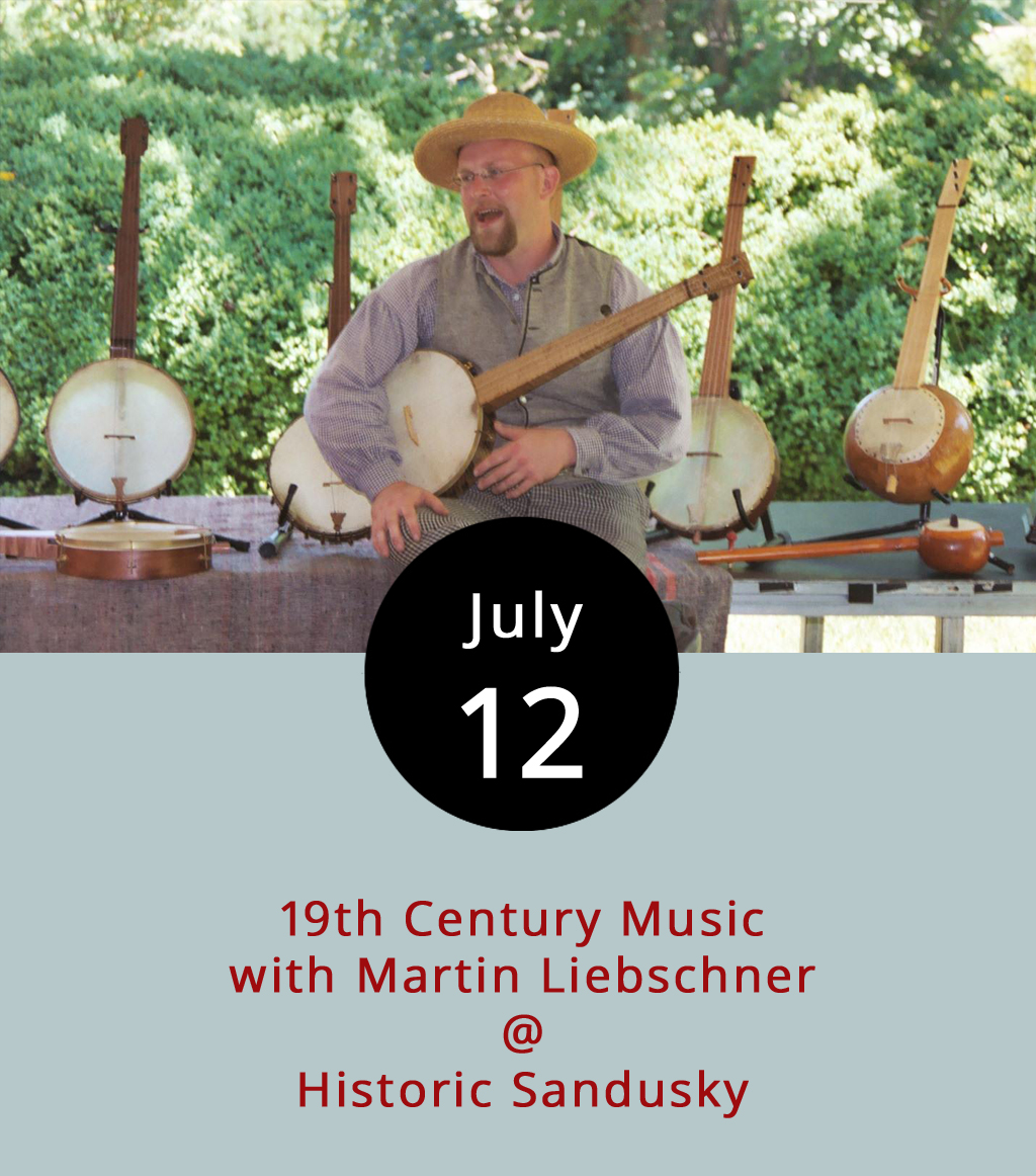 "They say music can take you back. Tonight, Historic Sandusky (757 Sandusky Dr.) and musician Martin Liebschner are going to see how far. From 7-8 p.m., Liebschner, who works at Colonial Williamsburg, will perform with 19th century period instruments and the songs our forebearers would have held in common. Through performance and lecture, Liebschner will show how music was used in both peace and war to entertain and communicate. Sandusky's plantation grounds, with the brick home built in 1808 and its connections to the Battle of Lynchburg, offer a fitting backdrop to Liebschner's 1800s musical stylings. The free event will be held outdoors, but in the shade. Seating is available, but visitors are welcome to bring a lawn chair or blanket to sit on. The program will be held indoors in case of inclement weather. For an example of Liebschner's style, click  here  for a song featured in the Civil War Western ""Ride with the Devil."" For more information about the event click  here  or call (434) 832-0162."