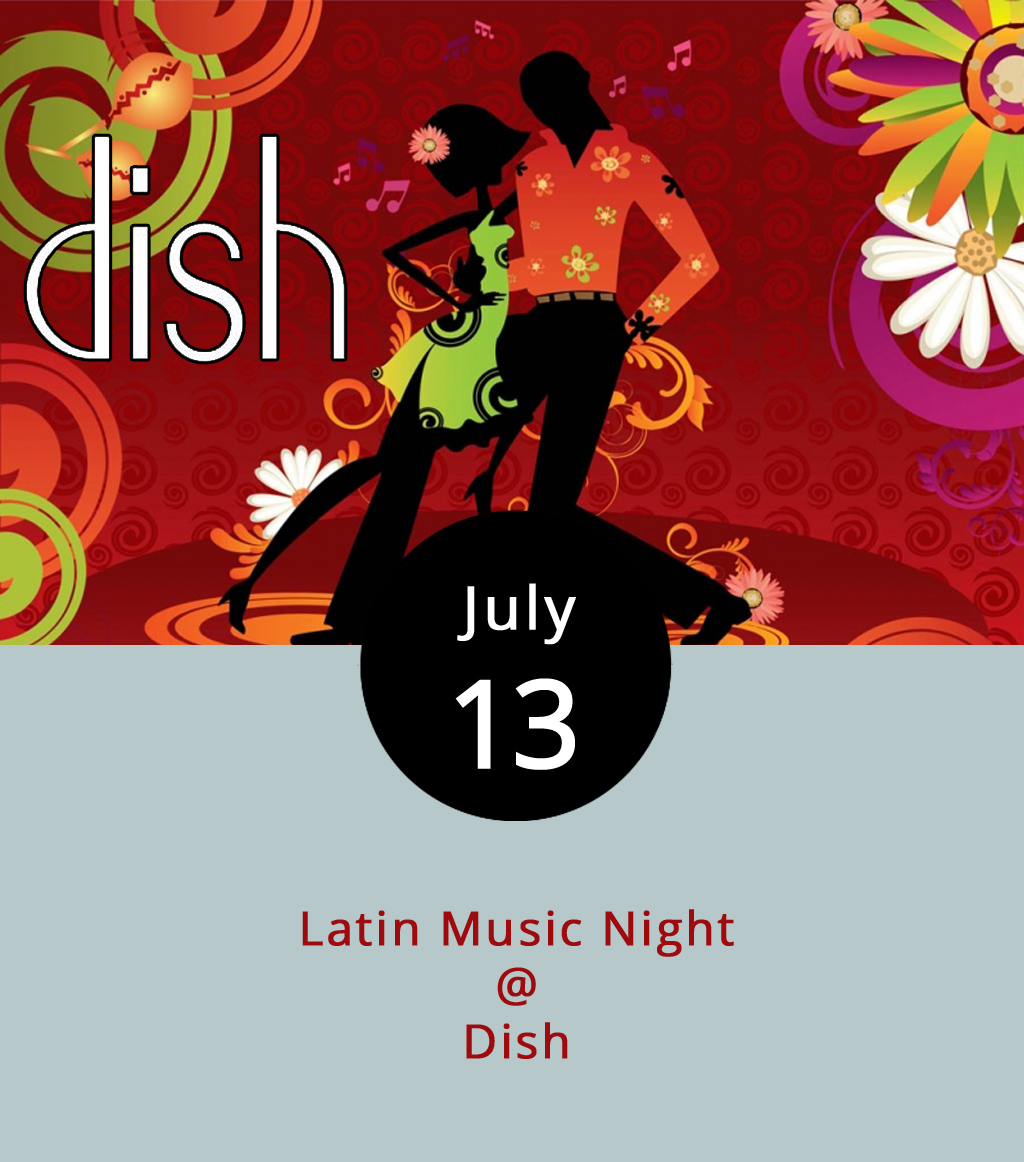 Anyone visiting Dish (1120 Main St.) tonight who enjoys energetic music, won't leave their feet if DJ Johnny has his way. Tonight and every Thursday, Dish hosts Latin Music Night featuring beats from a variety of Latin influences paired with a special menu designed for the weekly occasion. The event starts at 10 p.m. and goes until closing time. Starting at 11 p.m., there will be a $5 cover charge. For more information call Dish at (434) 528-0070 or click  here . Latin Night is organized by MG Productions, the same company bringing Cheers Lynchburg to Riverfront Park on Fridays this summer. For more information about DJ Johnny or the event contact MG at (434) 535-6190.