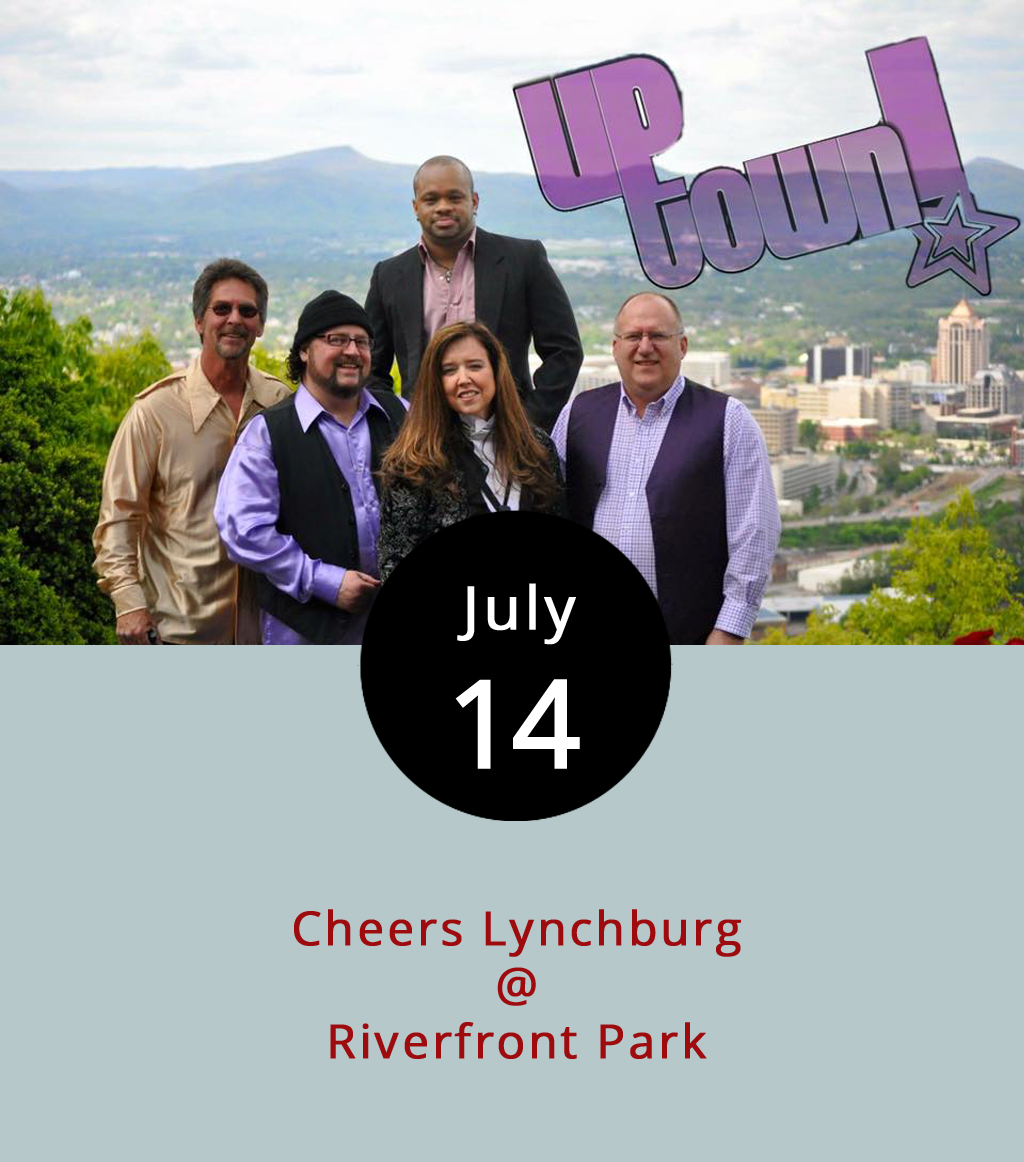 "Hill City live music lovers can count on shows at Riverfront Park (1100 Jefferson St.) on Fridays for the coming weeks, including tonight's show with Uptown Band, out of Roanoke seen  here  espousing soul while performing a cover of Rhianna's ""Love on the Brain,"" but they appear well equipped to get your hips popping and feet hopping. The show lasts from 6-9 p.m. with the gate opening at 5:30 p.m. There's a $5 cover, but children under 12 years old get in free. No outside food or beverages are allowed, but food trucks and alcohol vendors will be lined up inside. For more information click  here ."