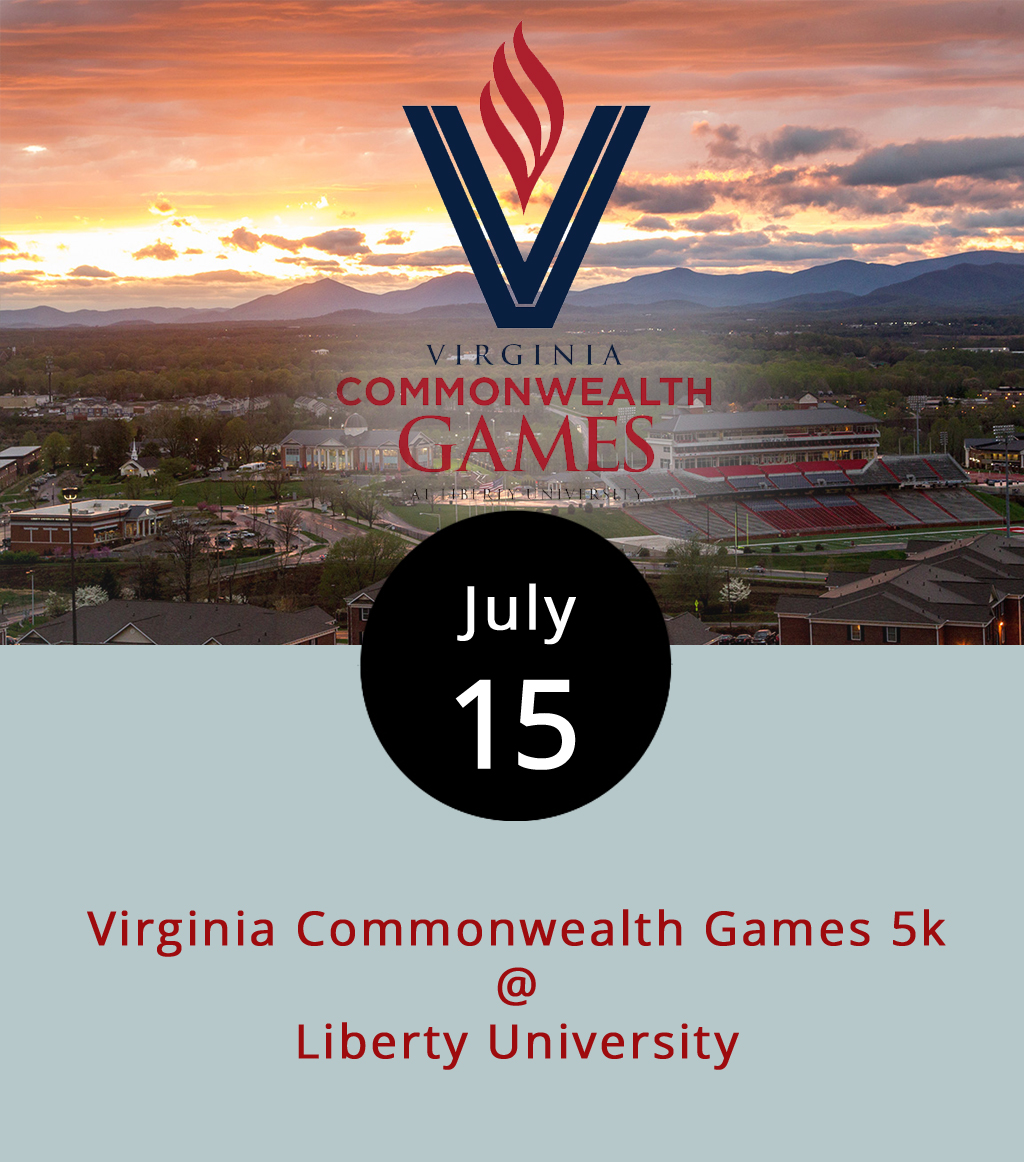 Although the opening ceremonies for the 2017 Virginia Commonwealth Games won't commence until next Friday, at least one event will be under way at Liberty University (1971 University Blvd.) this morning where runners can race across campus in a 5K. The Lynchburg Road Runners Club will help host the event at 8 a.m. Registration can be done up until race time for a $35 fee. The Commonwealth Games, which first came to Lynchburg last year, enables amateurs and novices of all experience levels to compete in a wide array of sports and games, including basketball, chess, pickleball, bowling, archery, clay shooting and much more. For a list of events and registration information, click  here  or call Virginia Ameteur Sports at 540.343.0987.