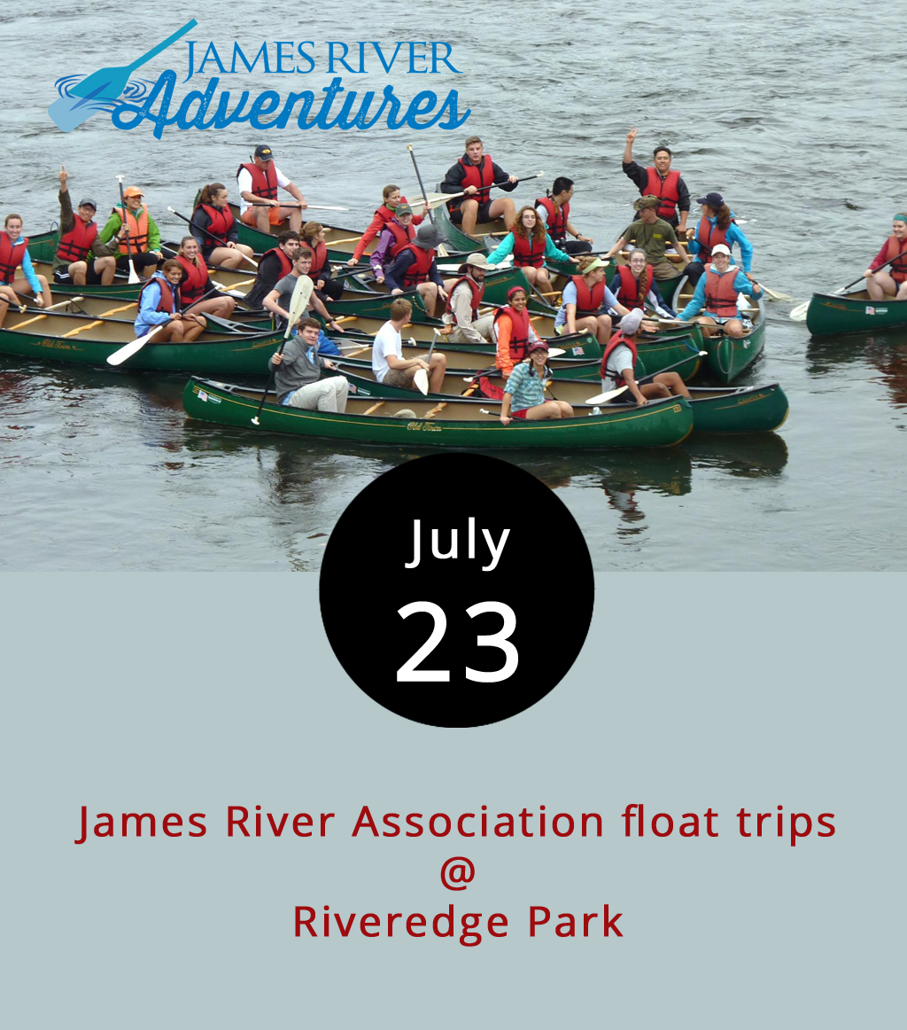 James River Float Company's closure three years ago left downtown Lynchburg without an outfitter to offer river newcomers a chance to test out the natural resource on which the Hill City was built. The James River Association filled that void last month when it began renting canoes and kayaks at Riveredge Park (150 Rocky Hill Rd.) from Thursday-Monday. The JRA, a nonprofit advocacy and educational organization, provides paddling instructions, a safety talk, and directions, welcoming the uninitiated to float the flat water around the Hill City. While paddlers are better off making reservations to make sure they land one of the 25 two-person canoes, or one of the 10 sit-on-top kayaks, walk-ins are welcome. Rentals are available for the 9-Mile Paddle or by the hour, the latter offering a chance to paddle leisurely around the downtown area, visit the dam and swim. Hourly rentals are available from 10 a.m.-4 p.m. for $15 per hour for the single kayaks, and $20 per hour for a canoe; for $20 or $30 respectively you get two hours. The 9-Mile float takes paddlers on a four- or five-hour cruise downriver. Bring drinking water, water shoes, plastic bags for items that must remain dry, and probably a snack. The 9-Mile trips start launching at 10 a.m. and on the hour after that through 1 p.m. Renters must be off the water by 6 p.m. The trip costs $35 for a single kayak, $50 for a canoe, and includes life jackets and a shuttle back to Riveredge. Guided trips are also available once a day at 11 a.m. for $70. For more information, click  here  or call (434) 847-1090.