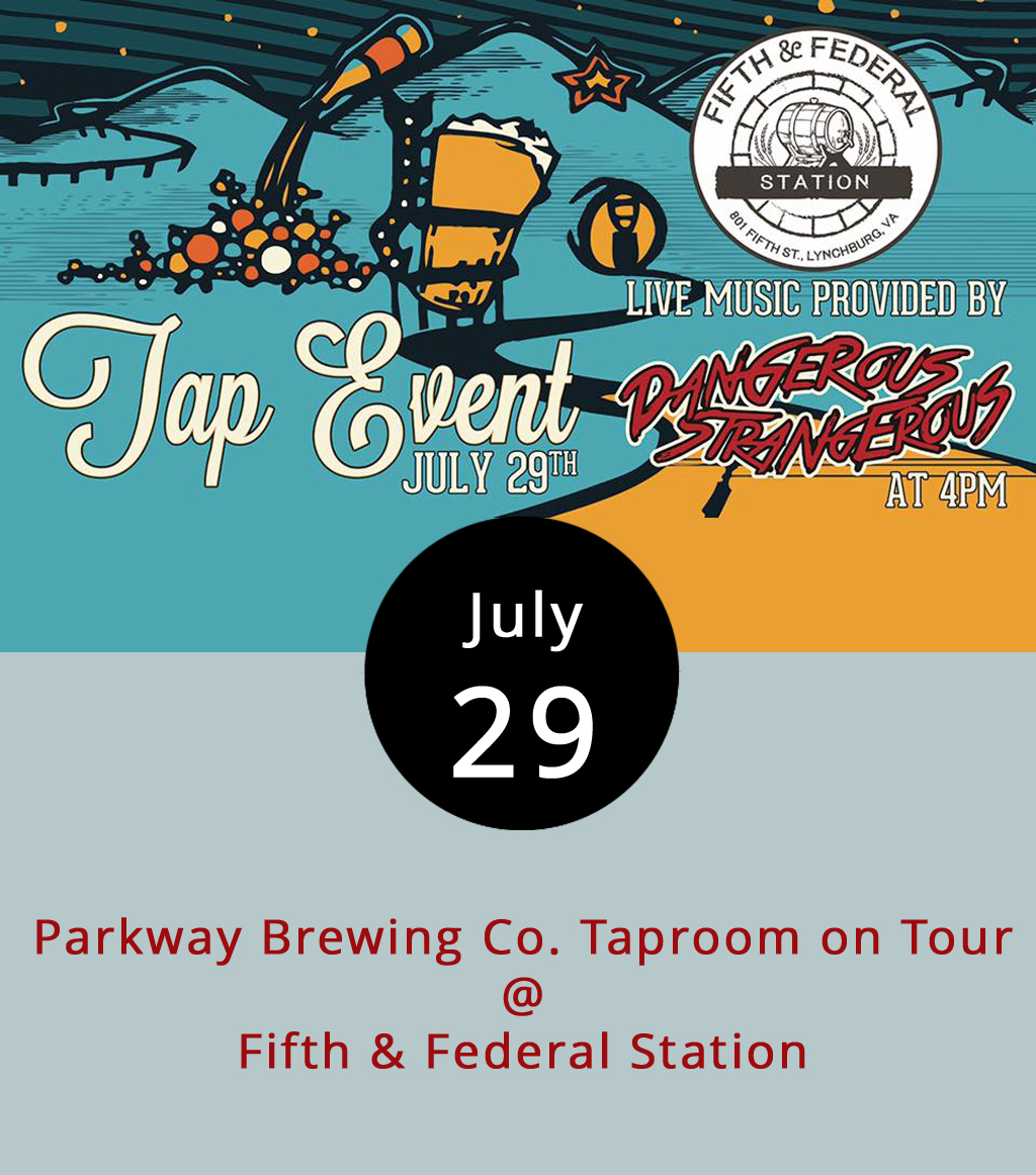 "With FloydFest underway, the folks at Salem's Parkway Brewing Co. have unveiled a FloydFest H-Fest IPL, a collaboration with Colorado's Breckenridge Brewery that'll be on tap today at Fifth & Federal Station (801 Fifth St.). Parkway's imperial pale lager won the gold in the specialty/experimental category at the 2016 Virginia Craft Beer Cup, and Taphunter.com describes it as ""a highly carbonated, medium-bodied lager that is well-balanced."" The first 48 patrons to order a Parkway beverage get a pint glass to keep today at Fifth & Federal, and they will be filling growlers. The Roanoke band Dangerous Strangerous will be on hand to play some rock music starting at 4 p.m. For information about the band, click  here . For more information about the event, including a complete beer list, click  here  or call (434) 386-8113."
