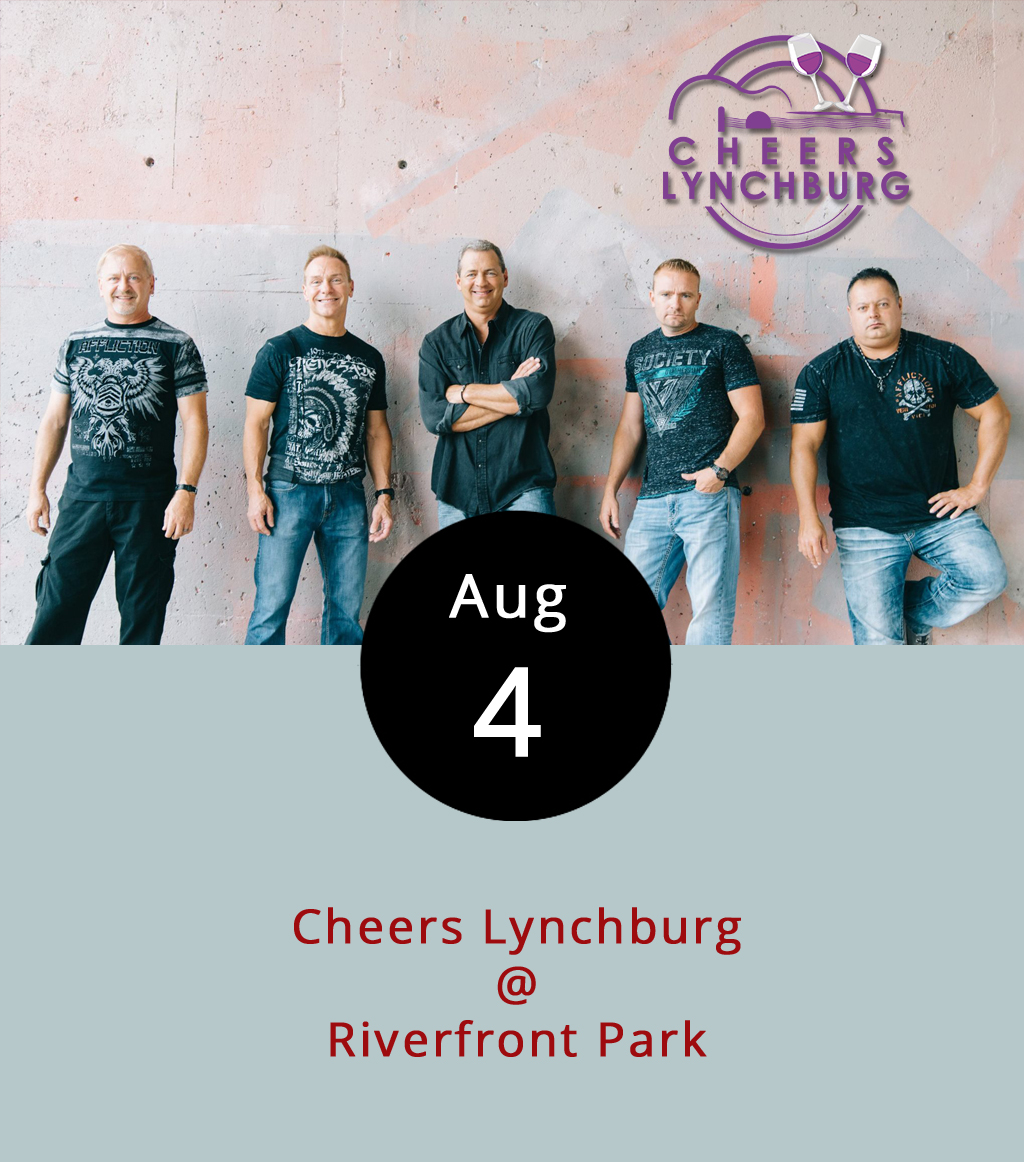 Summer is starting to wind down, which means the Cheers Lynchburg Friday night concert series only has a few more weeks to go. If you've been meaning to check out Riverfront Park (1000 Jefferson St.), tonight would be a good time to head out there. There will be music by the Worx, a rock cover band who specialize in a range of contemporary hits. To learn more about the band and see some live videos, click  here . There's a $5 cover charge, but children under 12 get in free. The gate opens at 5:30 p.m. Lawn chairs and blankets are welcome, but no outside coolers, drinks, or food are permitted. Food trucks and alcohol are available inside the gates. For more information click  here .
