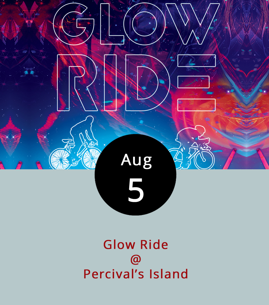 Expect Percival's Island to light up tonight as cyclists take to the trail with bikes decked in bright colors, glow sticks and lights. Partnering with  Bikes Unlimited  and  Blackwater Bike Shop , Lynchburg Parks and Recreation will host the Glow Ride, an all-ages event starting at 8 p.m. Register at the Parks and  Rec tent near the trail head LOVE sign for a chance to win one of three prizes for most festive bicycle, so be creative and colorful if you want to compete. From there, the ride goes three miles on the Riverwalk trail and three miles back for a leisurely six miles of mostly flat terrain. The ride starts around marker 15 on the trail system  map and crosses the river twice. If the weather cooperates, the moon will, too. The lunar cycle puts a mostly full waxing gibbous overhead Saturday night. Despite the moon's assistance in lighting up the trail, Parks and Rec recommends riders wear headlamps and helmets. For more information about the event click  here  or call  (434) 455-5858 .