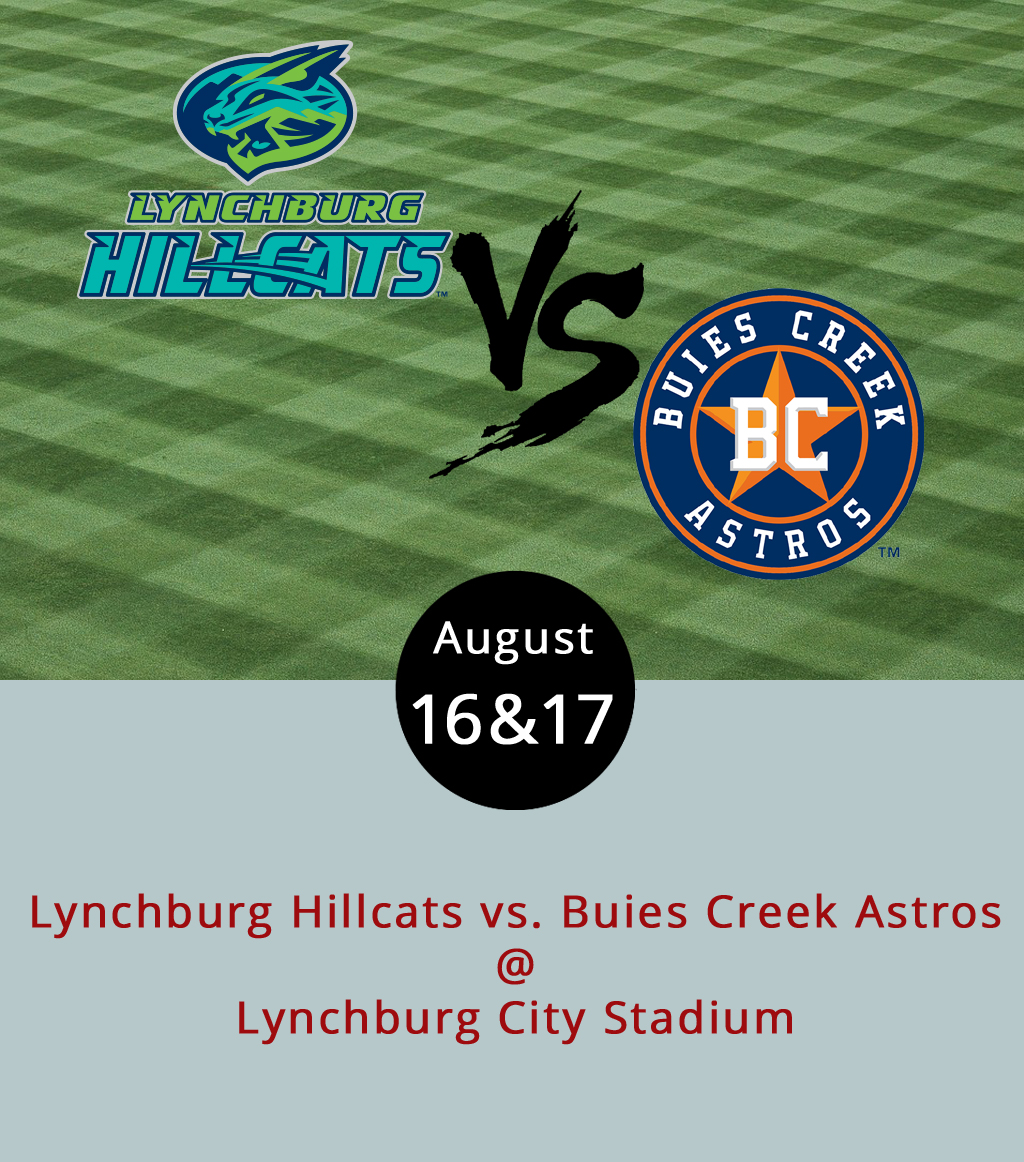 Earlier this week, the Lynchburg Hillcats came back to town for their second-to-last home stand of the regular season, a four-game series against the Buies Creek Astros. Currently, the Hillcats and the Astros sit atop their respective divisions: the Carolina League North and the Carolina League South. We haven't run the numbers on this one, and we don't want to jinx anyone, but with only three weeks left in the season it's a fairly good bet that we could be seeing a preview of the Carolina league playoffs right now. The Hillcats finish off the series against Buies Creek tonight and tomorrow at 7 p.m.; move on to a three game stand against the Salem Red Sox over the weekend; and then are on the road, where they'll take on Buies Creek again next week. Bleacher tickets are $6 at City Stadium (3176 Fort Ave.); reserved tickets are $9; and there are VIP tickets for $12. The first home playoff game in on Friday, September 8, at 7 p.m., and all Hillcats playoff tickets are now on sale for $6 apiece. Click  here  for ticketing, or call the box office at (434) 528-1144.