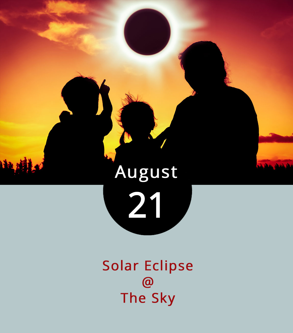 As the moon passes in front of the sun today, many of us will instinctually gaze skyward to view the natural phenomena casting an unusual shadow over the land. But for the sake of your eyesight, make sure to pick up the specially designed protective eclipse glasses before you do so. The  eclipse  should begin at about 1:14 p.m. and peak at about 2:41 p.m. before the sky (hopefully) returns to normal at about 4:02 p.m. A few area libraries are hosting eclipse events, and handing out appropriate eyewear. Click  here  and call ahead to the library of your choice to make sure they haven't run out of eclipse glasses. The American Astronomical Society has an online  list  of reputable vendors who are selling protective eyewear. The folks at Peaks of Otter Lodge (85554 Blue Ridge Pkwy.) in Bedford also plan to sell protective glasses ahead of the eclipse and recommend viewing it from nearby  Sharp Top , which can be reached by hike or shuttle. The shuttle will run from 10 a.m. to 4 p.m. with food and drink specials all day at the lodge. For more information, click  here  or call (866) 387-9905.