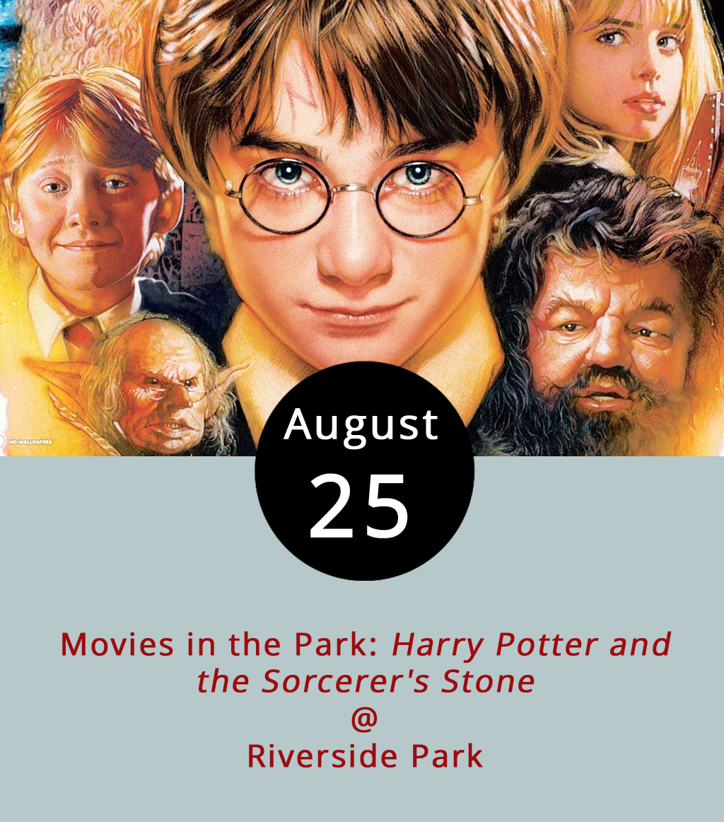 It doesn't get much more family friendly than  Harry Potter and the Sorcerer's Stone  played on a big screen at Riverside Park (2238 Rivermont Ave.). The event, hosted by Lynchburg Parks and Recreation from 8-11 p.m., is part of the Movies in the Park summer series. The movie won't play until dusk, set for about 8:22 p.m., but come ahead of time to grab dinner and dessert from any of the six food trucks scheduled to attend (Upper Crust Pizza Co., Uprooted, Taco Shark, Nomad Coffee Co., T&E Catering, Mama Crockett's Cider Donuts, and Maylynn's Creamery). For anyone with time to kill a little earlier in the evening, the park also features a leisurely hike and lovely views of the James River. As if we needed to tell you, the movie is the first in the Harry Potter series, spawned from the books of the same name written by J.K. Rowling. In the  Sorcerer's Stone , the l1-year-old Potter learns not only that he has magical abilities, but that he's marked as the chosen one and expected to ultimately defeat a wizard so evil, the wizarding community fears to say his name. Here goes: Lord Voldemort! For more information about the event, click  here  or call (434) 455-5869.