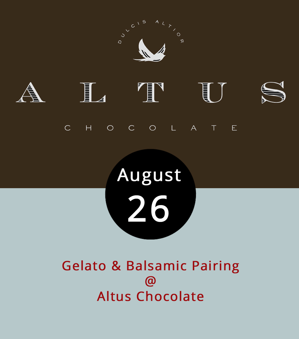 For the last time this summer, downtown retail neighbors Altus Chocolate (908 Main St.) and Favored Flavors (912 Main St.) will team up to pair their products. It may seem strange to top Italian ice cream with balsamic vinegar, but fear not, the shop owners say their crafted products blend perfectly. Admission to the event is $9 and includes 12 tastings (four gelatos each paired with three balsamics) as well as a date night coupon redeemable at both shops. Only 20 seats are available and ticket sales end at 3 p.m. today; they don't want to run out of gelato. To order tickets, click  here . For more information, click  here  or call Altus at (434) 847-2970 or Favored at (434) 238-0801. Earlier today, Favored Flavors hosts a sampling of grilled meats and vegetables served on Himalayan salt tiles. The salt tile sampling is free from 11 a.m. to 3 p.m. For more information, click  here  or call Favored Flavors at the number listed above.