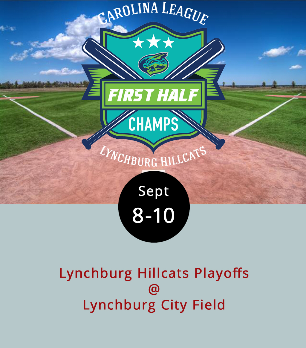 It's fair to expect fireworks tonight as the Lynchburg Hillcats, running on a seven-game win streak, face off against the Frederick Keys in the opening round of the Carolina League playoffs following two games in Frederick. With a 37-33 regular season record, the Keys came in second in the Northern Division, which the Hillcats won by leading the league with 47 wins. We mean the fireworks thing literally, by the way. The Hillcats will be holding their last planned fireworks show of the season. Games are scheduled for Saturday and Sunday with times to be announced, but neither may be necessary. Advance tickets to the three home playoff games at Lynchburg City Field (3176 Fort Ave.) are just $6 each. Click  here for ticketing, or call the box office at (434) 528-1144.