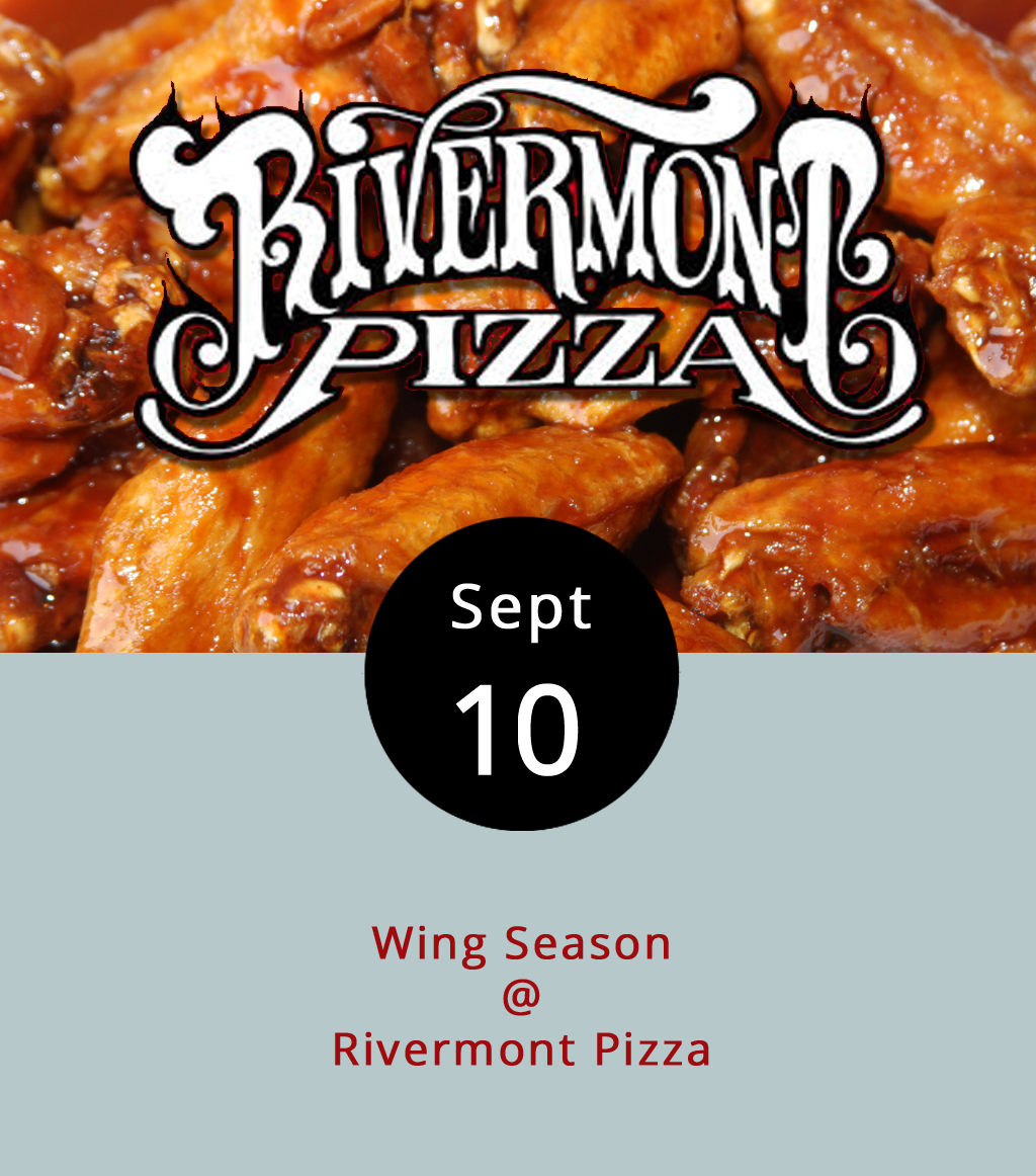 The National Football League's opening week means the return of wings at Rivermont Pizza (2496 Rivermont Ave.). RP only offers them on Sundays when the NFL is in session, and for Monday Night Football if there are any left. The wings arrive only for a limited time because of restraints in the basement pizza shop's tight kitchen, but the wait is worth it. We don't have the prices or spices yet, but we'll let you know when we do. There's always a fan favorite, and we're looking forward to having them back if only for a limited time. Feel free to call  RP for more information at (434) 846-2877.