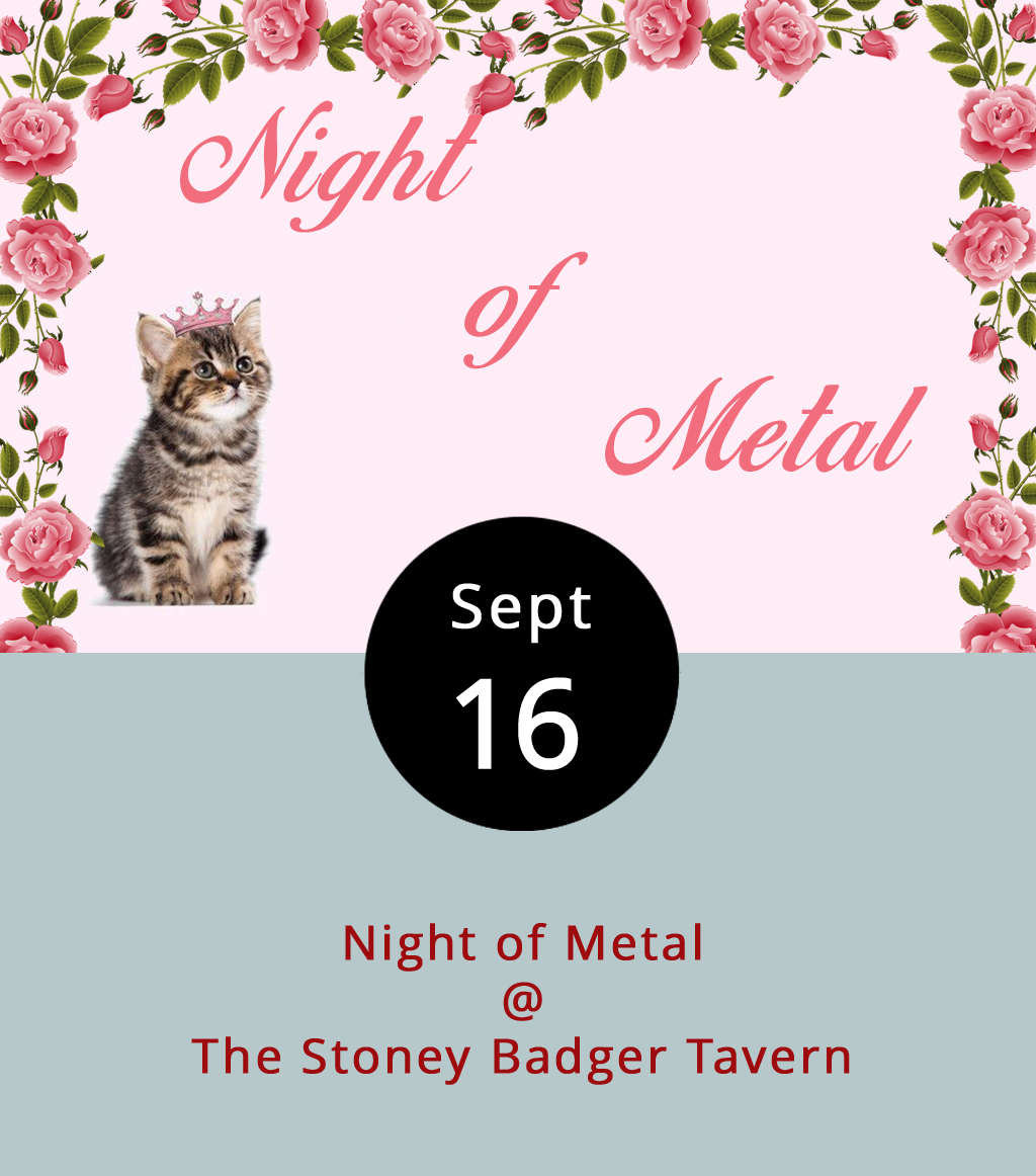 It's gonna get a little bit loud tonight at the Stoney Badger (3009 Old Forest Rd.). The Georgia Metal Alliance Int'l HMC Virginia Chapter is bringing a couple of North Carolina bands to town for a big heavy metal blowout. Here's who's on the bill: Winston Salem's  White Knuckle Black Out , Greensboro's  Undrask , and to represent Lynchburg they've got  Mourn the Illusion . It's a 21-plus show that gets underway at 9:30 p.m. with a $7 cover charge. For more information, click  here , or call the Badger at (434) 384-3004.