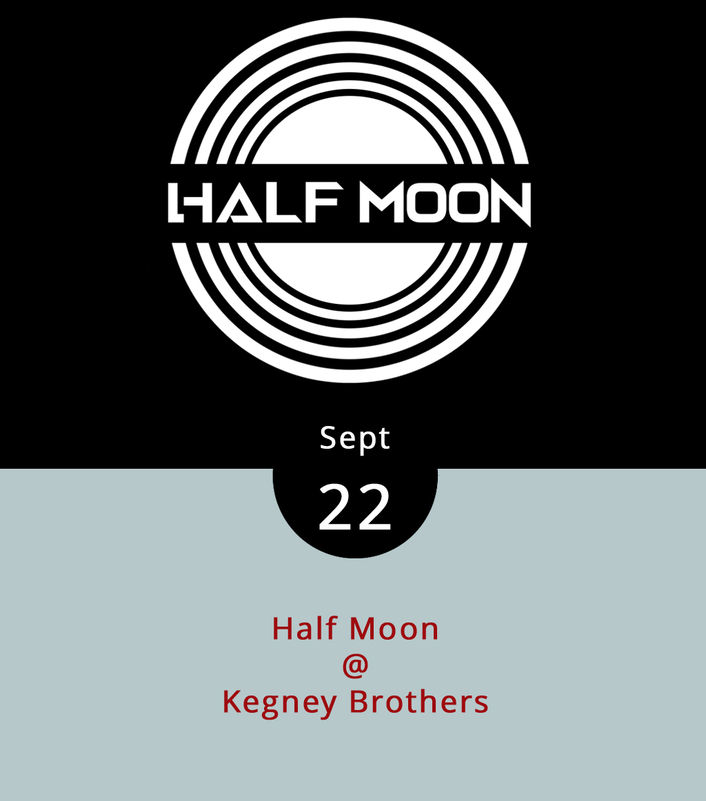 """Half Moon are a band out of Roanoke who like to call their brand of music Appalachian soul-rock. What that seems to mean is that they're a little bit country and a little bit rock and roll, with a little bit of r&b thrown in for good measure. We're also guessing that singer/guitarist Adam Beason and drummer John Beason are brothers, but we're not 100% sure. What we do know is that they're gonna play a set of original tunes at Kegney Brothers (1118 Main St.), followed by a quick change of character into """"Half Talking,"""" a version of Half Moon that only performs Talking Heads covers. You may ask yourself, how did I get here?, in which case we recommend installing a locater app on your mobile device. A good one will give you a read on longitude and lattitude, which is a fine place to start. The fun at Kegney's starts at 10 p.m. and goes 'til last call around 1 a.m. There's a $4 cover, and it's 21-plus; call (434) 616-6691 or click  here ."""