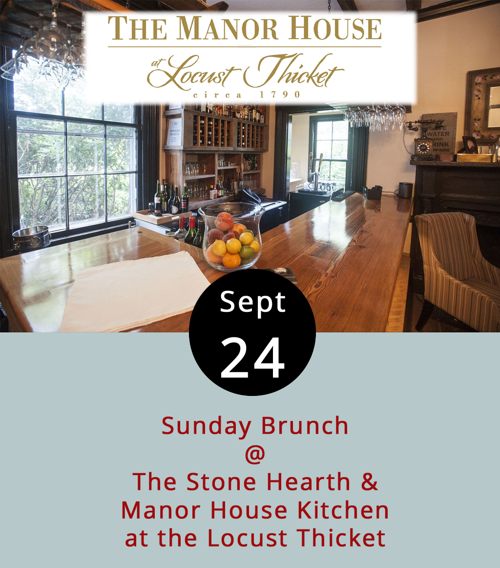 """As far as we can tell, the Stone Hearth & Manor House Kitchen at the Locust Thicket (2627 Old Forest Rd.) is the hands-down winner in the category of Lynchburg restaurant with the longest name. The establishment is open for business under the able stewardship of Chef Jim Moyer, who's doing lunch on Wednesdays-Fridays from 11:30 a.m.-2 p.m., and dinner on Wednesdays-Saturdays from 5-9 p.m. He's also got a Sunday brunch menu featuring Stone Hearth Honey Fig French Toast, Chesapeake Eggs Benedict (lump crab, tomato, spinach, and poached eggs on a toasted biscuit), and Shrimp & Grits with a """"mint fruit shooter."""" Entrees run from $10 for a Locust Thicket Morning Continental, to $16 for the Benedict. Reservations are not required. Call (434) 384-2600 for more info, and click  here  to see the complete menu."""
