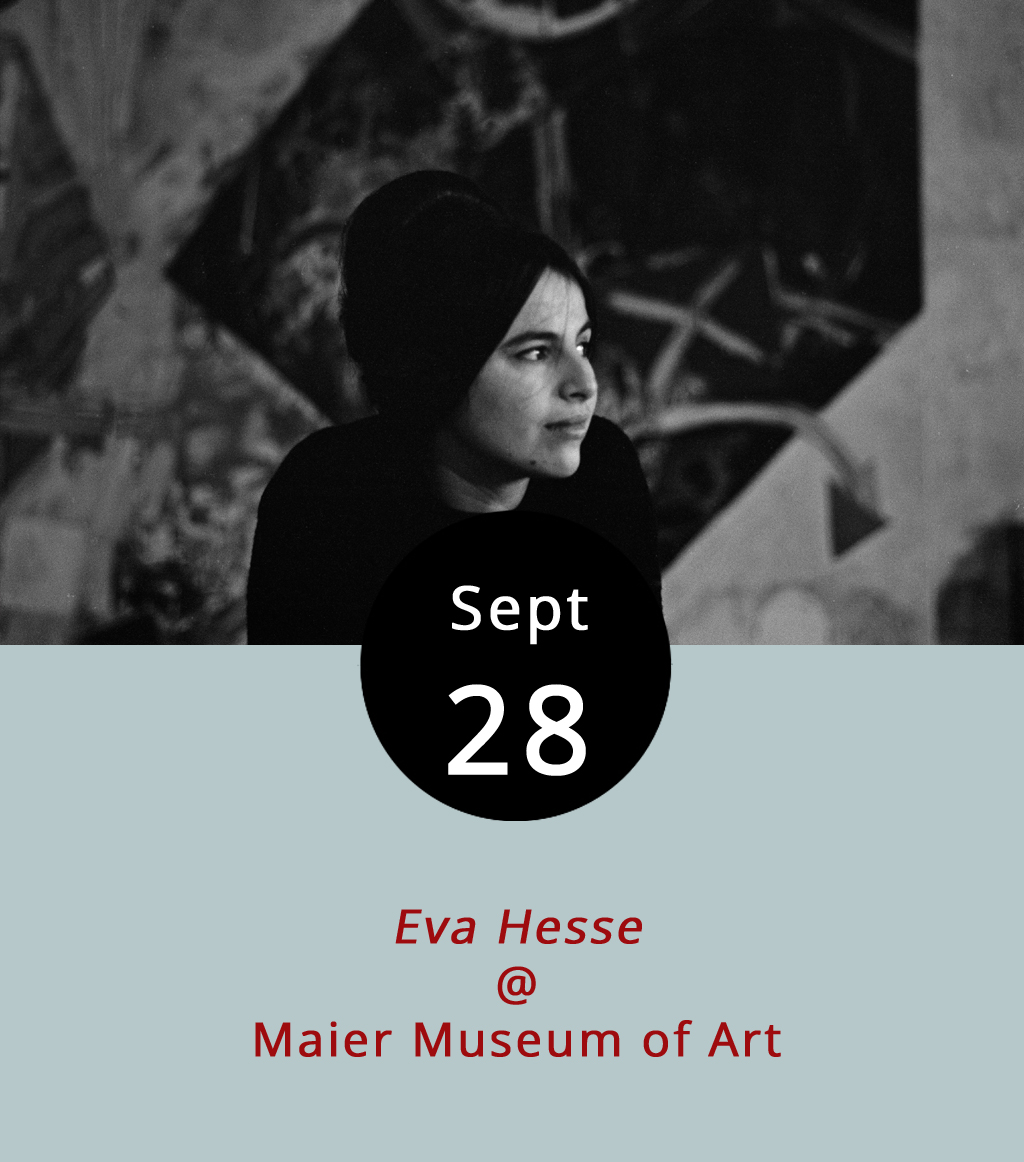 """Eva Hesse was only a toddler in 1939 when her German-Jewish family escaped to the US from Nazi Germany. She would go on to become an iconic post-minimal artist. In 2016, director Marcie Begleiter made a film about Hesse, who used found items and materials like rope, cord and netting to make three-dimensional pieces described in the documentary as """"on the borderline of uncontrollability,"""" and who sadly died of a brain tumor at the age of 34 in 1970. Eva Hesse screens tonight at Randolph College's Maier Museum of Art (1 Quinlan St.). The screening is free and runs from 7-9 p.m. For more information, click  here or call (434) 947-8136."""