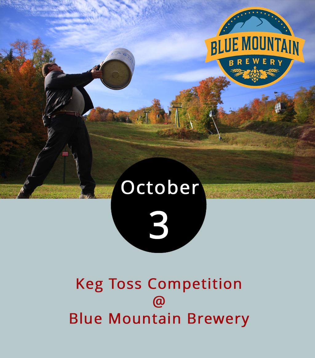 Test your metal and your mettle at Blue Mountain Brewery (9519 Critzers Shop Rd.) in Afton by tossing a keg tonight. It's a pretty simple contest. Just stop by the Nelson County brewery any time between 5:30-7:30 p.m., pick up a keg, and chuck, toss, or otherwise propel it. Prizes, including gift cards, go to the man and woman who throw the farthest. It's also worth mentioning that every Tuesday at the brewery's restaurant is Fish Taco Tuesday, so why not try those out? For more information about Blue Mountain Oktoberfest, click  here or call (540) 456-8020.