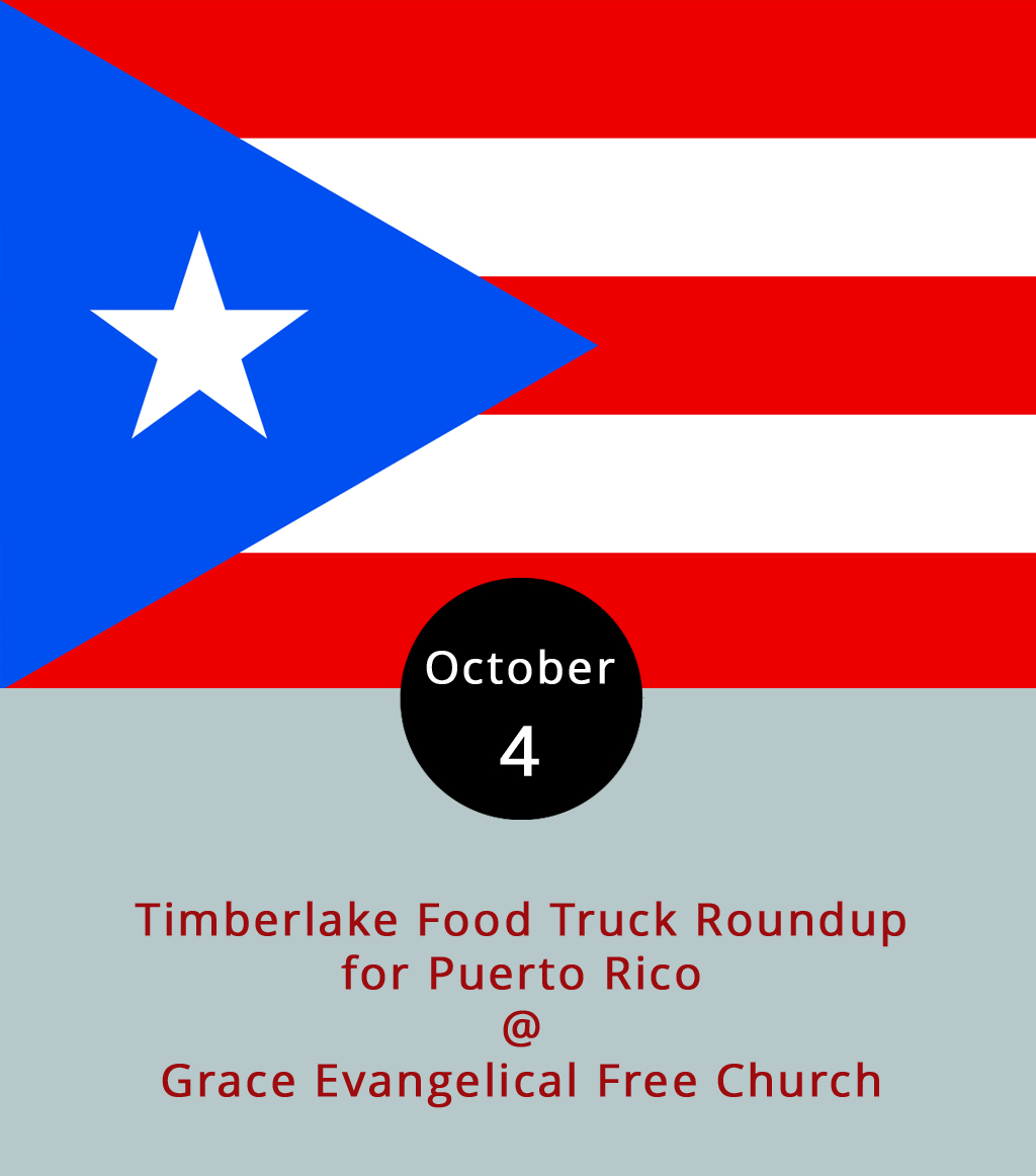 The humanitarian disaster that has overtaken Puerto Rico in the wake of Hurricane Maria has resonated well beyond the shores of the island, reaching thousands who have friends and family members stranded without water and power. The folks behind the local T&E Catering food truck are among those with family in Puerto Rico, and they're asking for help at the Timberlake Food Truck Roundup. To read the statement and story from T&E on the event page, click  here . The roundup runs from 5-8 p.m. at Grace Evangelical Free Church (21129 Timberlake Rd.), and will feature Nomad Coffee Co., Mama Crockett's Cider Donuts, Uprooted, Upper Crust, and Appetite Creamery, as well as T&E, who will be collecting donations at the event. For more info and updates on who will be there, click  here .