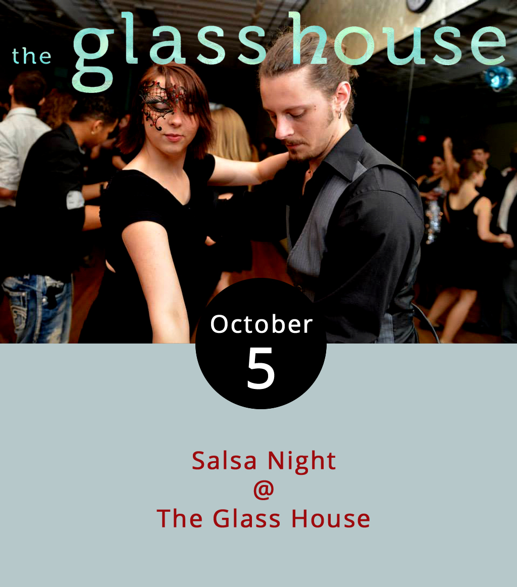 The art of dance is one arrow every person should keep in their cultural quiver. And tonight there's a chance to learn the basics of at least one style at Lynchburg Salsa's October Salsa Night at the Glass House (1019 Jefferson St.). The event starts at 8 p.m. with an hour-long beginner's class, then proceeds to a social dancing session from 9-11 p.m. Attendees don't need a partner as long as they're willing to mix things up a bit and meet some new people. The cover is $5 in cash.  Lynchburg Salsa recommends wearing dress casual clothes and leaving flip flops at home in favor of tighter footwear. No alcohol will be served or sold, and anyone who is intoxicated will not be allowed to enter. For more information, click  here  or email  lynchburgsalsa@gmail.com .