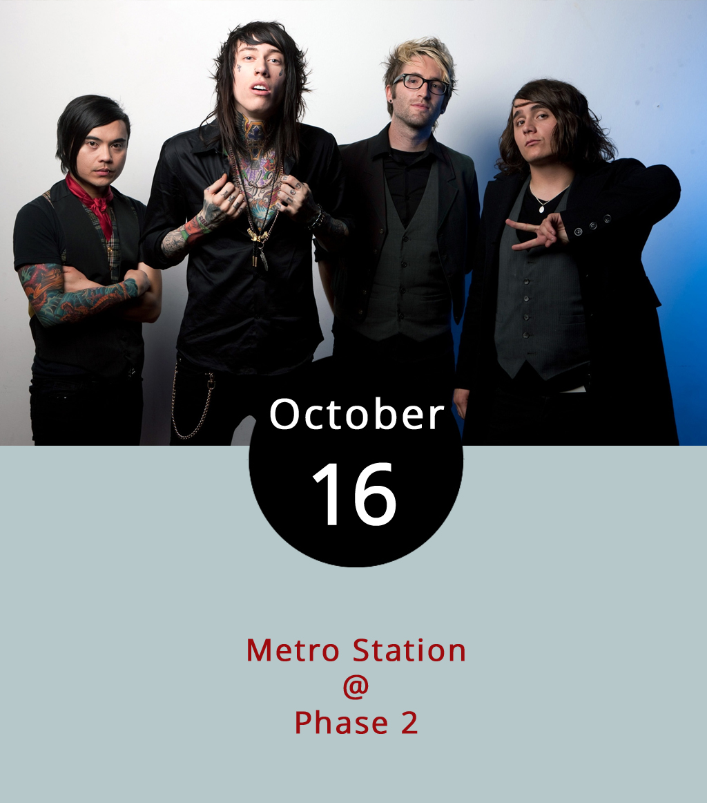 "Lynchburg's longtime case of the Mondays gets the ""Shake It"" treatment tonight at Phase 2 (4009 Murray Pl.) when Metro Station stops by along their 10-year anniversary tour. The band comes to town nine years after its highest hit "" Shake It "" from their self-titled album spent 45 weeks on Billboard charts. The song peaked at #4 while Katy Perry's ""I Kissed A Girl"" was in the top spot. Doors open at 5:30 p.m. for the 6 p.m show. Fun fact: the band includes Trace Cyrus, brother to recording artist Miley and son to ""Achy Breaky Heart"" singer Billy Ray. Tickets, which can be purchased  here , are $15 for general admission. For more information, click  here  or call (434) 846-3206."