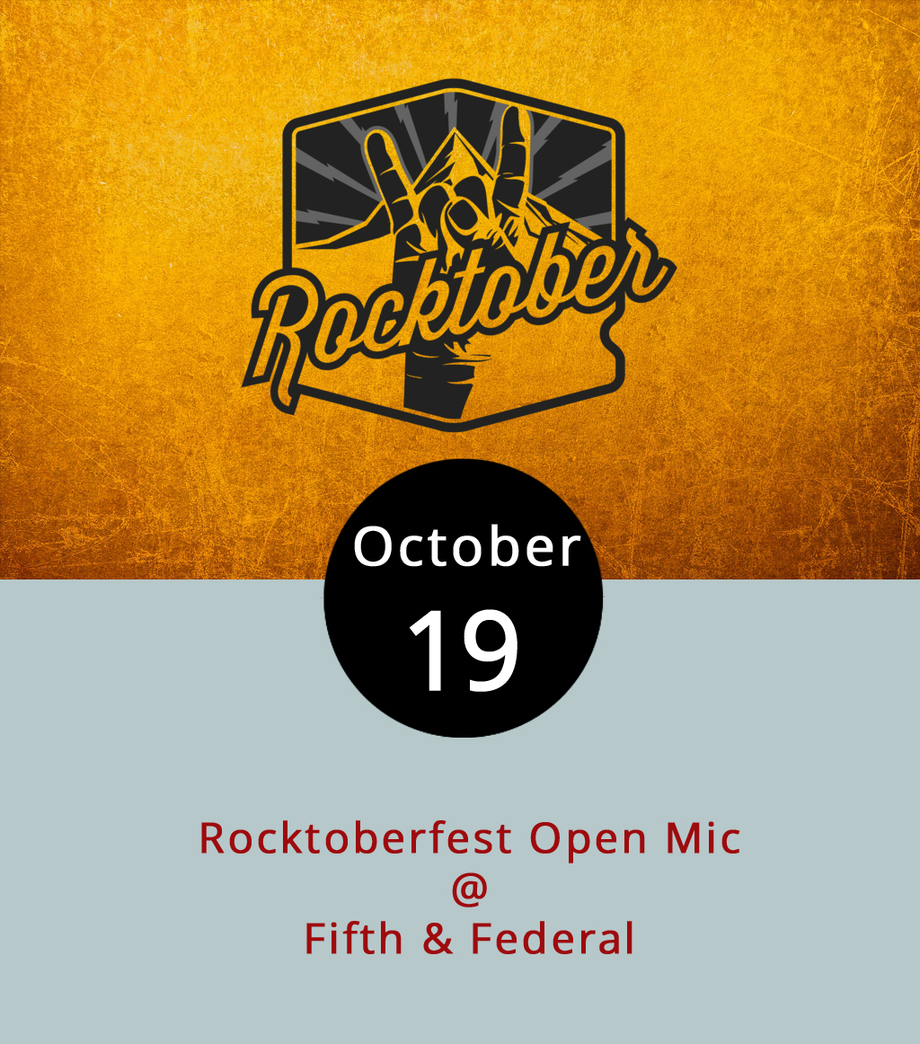 LynchburgDoes will once again be in the house this evening for a rousing, autumnal open mic night at Fifth & Federal Station (801 Fifth St.). Matt Ashare, LynchburgDoes' faithful publisher, will handle the hosting duties and play a few songs of his own, and some of Lynchburg's finest musicians and songwriters will be on hand to perform. There may be even be a belated tribute to the late, great Tom Petty, which was part of the program two weeks ago at Fifth & Federal. Come early – the music starts at 8 p.m. – and stay until closing at 11 p.m. The kitchen serves barbecue; the bar has great beer and a formidably large selection of American whiskeys. For more info, call (434) 386-8113 or click  here . To check out Fifth & Federal's menu, click  here .