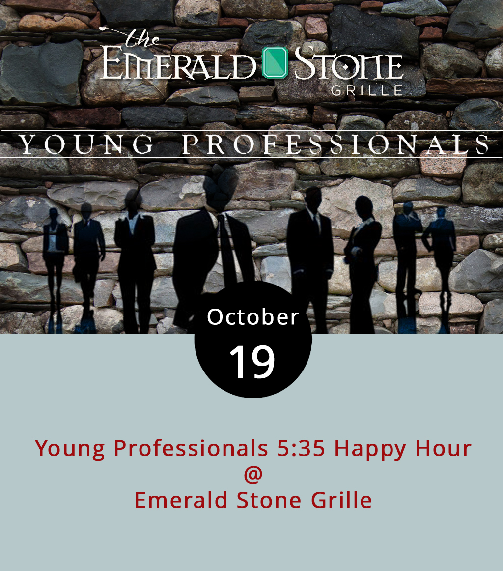 The Lynchburg area has a bit of a problem retaining millennials, but the Central Virginia Young Professionals organization hopes getting young talent together will encourage them to stick around. In that capacity, theCVYP hosts a networking happy hour that lands at a different spot around town each month. This time, the meet-up is at Emerald Stone Grille (1001 Jefferson St.) from 5:35-8:35 p.m. There's no membership fee or cover charge, and whatever the modern version of business card trading is is encouraged. For information on the event, click  here ; for the Emerald Stone menu, click  here ; for details on the CVVP and its mission, click  here  or call (434) 847-1447.