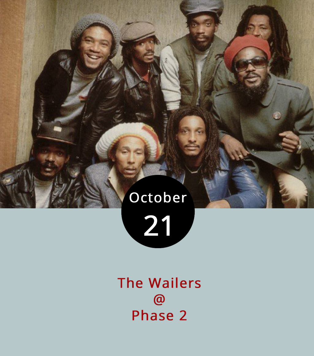 "Reggae legend Bob Marley may have long since passed, but several members of his original band are helping to keep his iconic music flourishing. The Wailers, comprised of several members of the band that performed and recorded with Marley before his death in 1981, will perform at Phase 2 (4009 Murray Pl.) tonight. Expect to hear the hits as performed by Marley from a band that includes bassist Aston ""Familyman"" Barrett and guitarists Junior Marvin and Donald Kinsey who all played with him. Doors open at 7 p.m. for the 8 p.m. show, which is 18+. General admission is $20 with group rates and VIP ticket options available. To purchase tickets, click  here  or call (434) 846-3206 for more information."