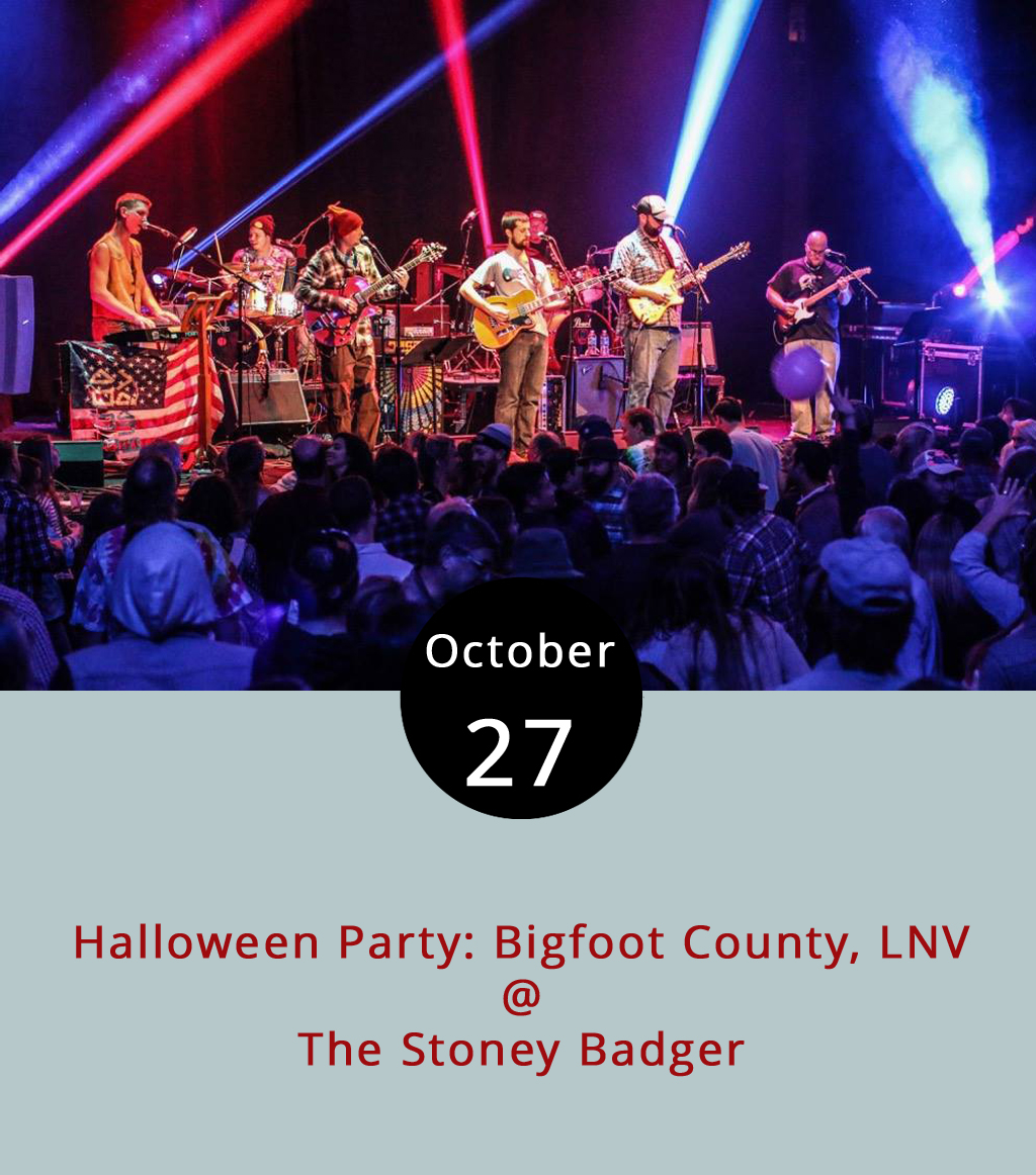 There's quite a few Halloween celebrations tonight, and The Stoney Badger (3009 Old Forest Rd.), is holding two of them. On the non-smoking side of the bar, the regionally renowned Grateful Dead cover band  BigFoot County  perform. For more information, click  here . On the smoking side,  Last Nights Villain  will bring a collection of modern, classic and 80s rock covers. For more information, click  here . Both shows start about 9:30 p.m. and continue until 1:15 p.m. Last call ends at 1:40 p.m. There's a $12 cover to get in the building and people can travel back and forth between shows. There's also a costume contest with prizes on both sides. For more information, call the Badger at (434) 384-3004.