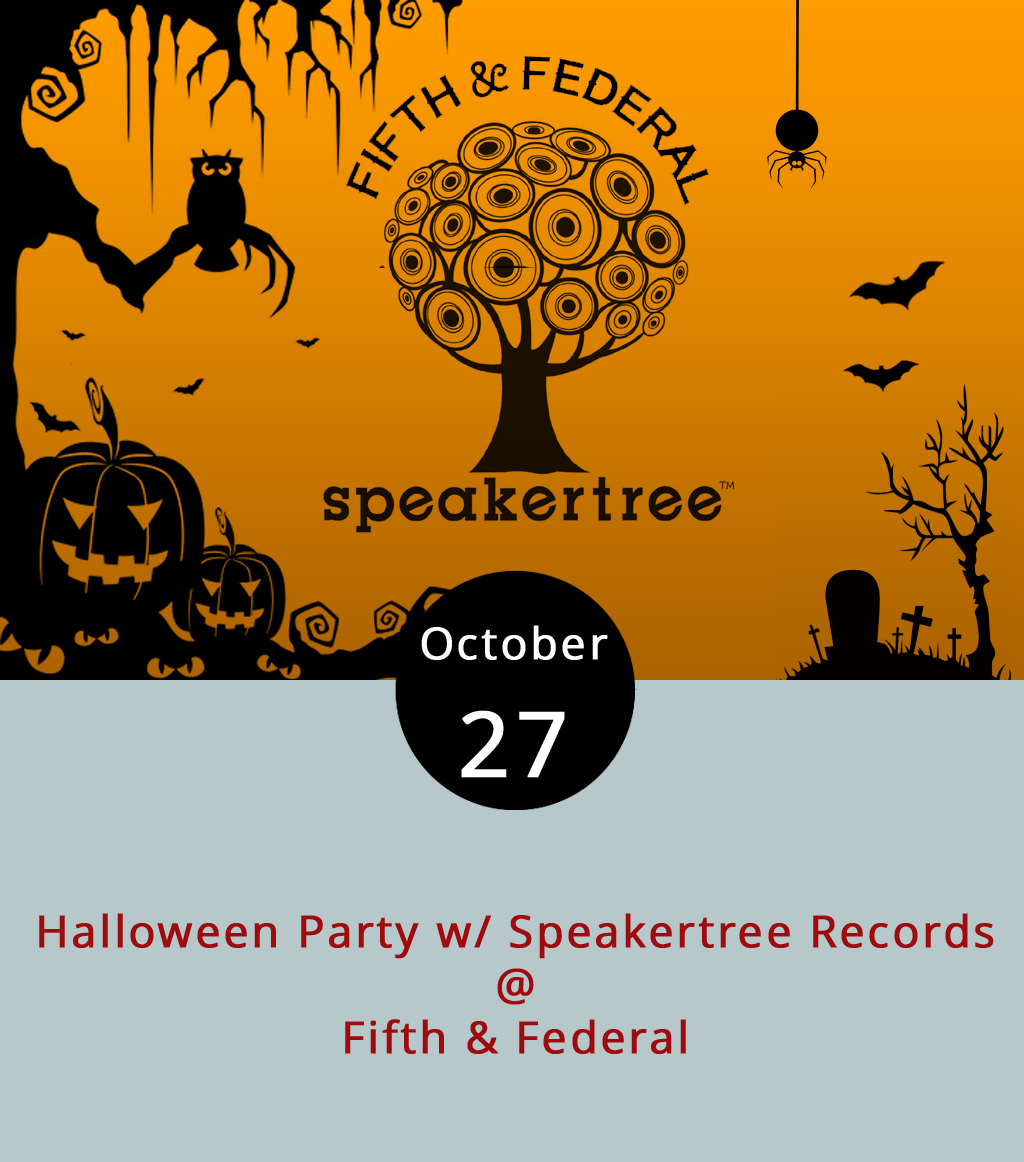 "Lynchburg's only record shop plans to spin ""an eclectic mix of Halloween themed music"" tonight when they team up with one of the Hill City's newer bars for a Halloween bash. While Speakertree mans the music, Fifth & Federal bartenders will whip up special candy cocktails, so you don't have to go begging door-to-door. We recommend having a few tricks up your sleeve to make sure you get your treats though. Outside on their patio, they'll be playing Halloween movie classics. The party starts at 8 p.m. and they close at midnight. For more information, click  here  or call (434) 386-8113."