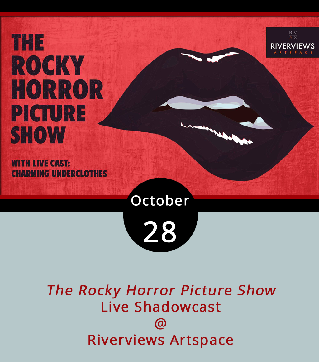 The Rocky Horror Picture Show's (1975) long and raucous tradition of live performance, video screening and crowd participation continues at Riverviews Artspace (901 Jefferson St.) tonight. While the cult hit directed by Jim Sharman and starring Tim Curry as the genderfluid Dr. Frank-N-Furter plays on screen, the Roanoke-based theatre troupe  Charming Underclothes  will perform a live shadowcast and interact with the crowd. You may recall that the group came to Riverviews in August for a similar event featuring the film Clue (1985). The legend of Rocky Horror, a sex-infused film about a straight-laced couple who find themselves staying overnight in a mansion with a band of depraved miscreants, grew from its core fans who came to midnight screenings dressed as characters and often in drag. These fans also play along with the show, bringing props, such as rice and toast to throw. See here for a prop  list . Riverviews will also have prop bags for sale for $5. Tickets to the show are $18 and a cash bar will be available. Doors open at 7 p.m. for the 8 p.m. show. For more information, click  here  or call (434) 847-7277.