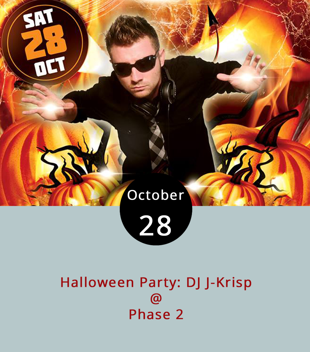 "Come as you are or dress in your spookiest, cleverest or sexiest costume tonight as Phase 2 (4009 Murray Pl.) celebrates Halloween. According to his Facebook page, DJ J-Krisp, out of Semora, North Carolina, touts his style as playing ""Any and Everything,"" although his Soundcloud  page , show he mixes and matches a lot of country music for the club setting. Hip hop and rock are appear to be represented. Anyone wearing a costume can sign up to participate in contests with cash and other prizes awarded. The cover is $10 at the door. The event is 21+. For more information, click  here  or call (434) 846-3206."